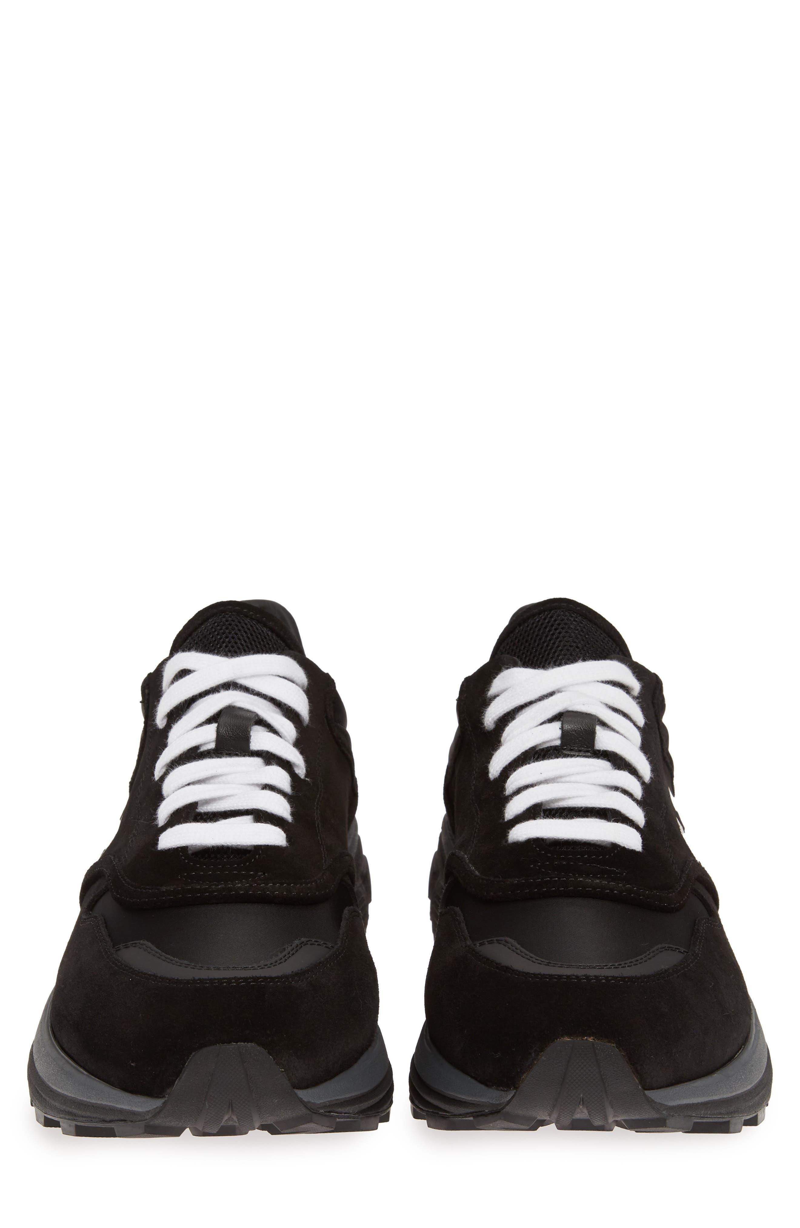 Jogger Sneaker,                             Alternate thumbnail 5, color,                             BLACK/ WHITE
