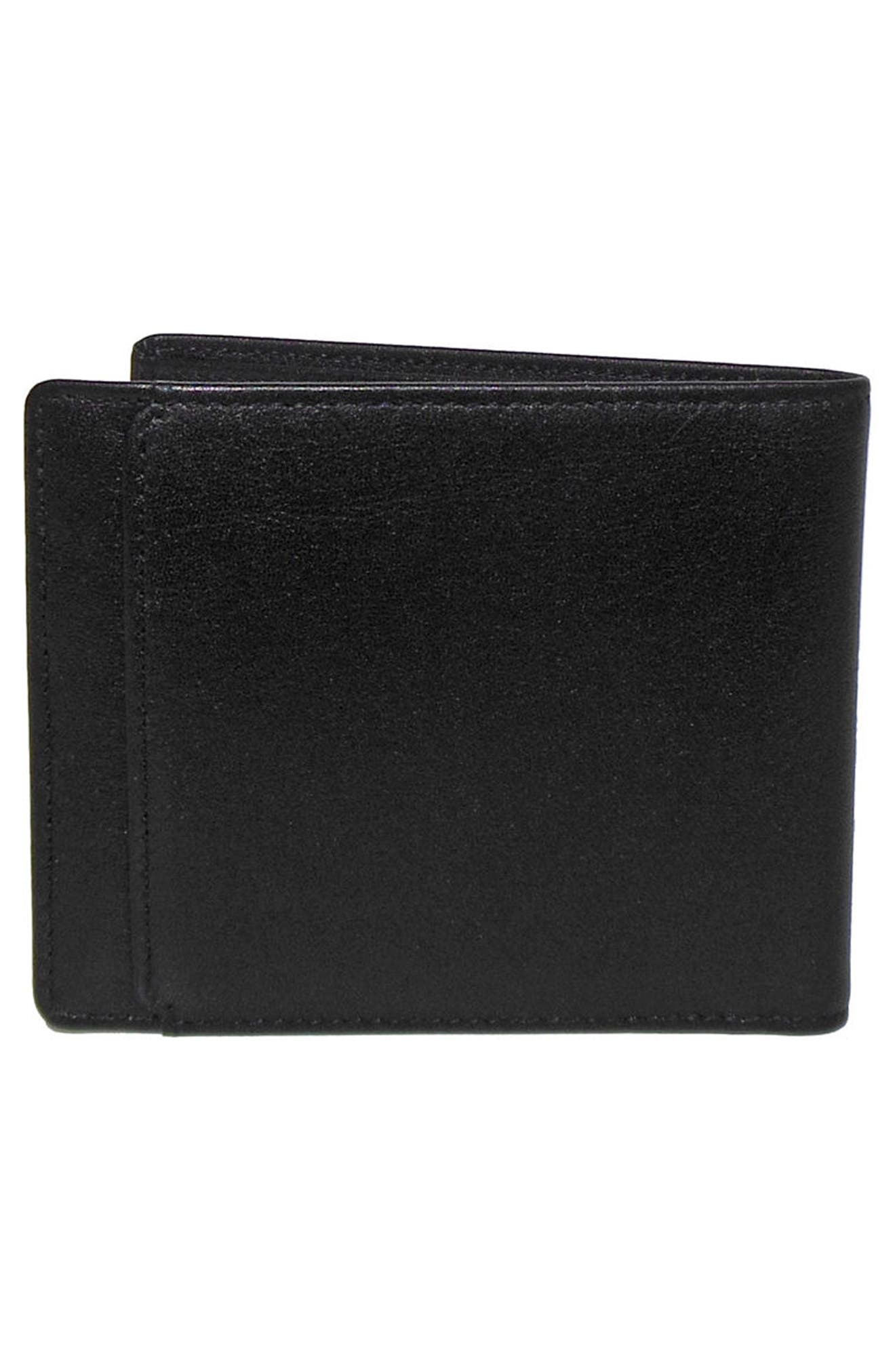 Grant Leather Wallet,                             Alternate thumbnail 3, color,                             001