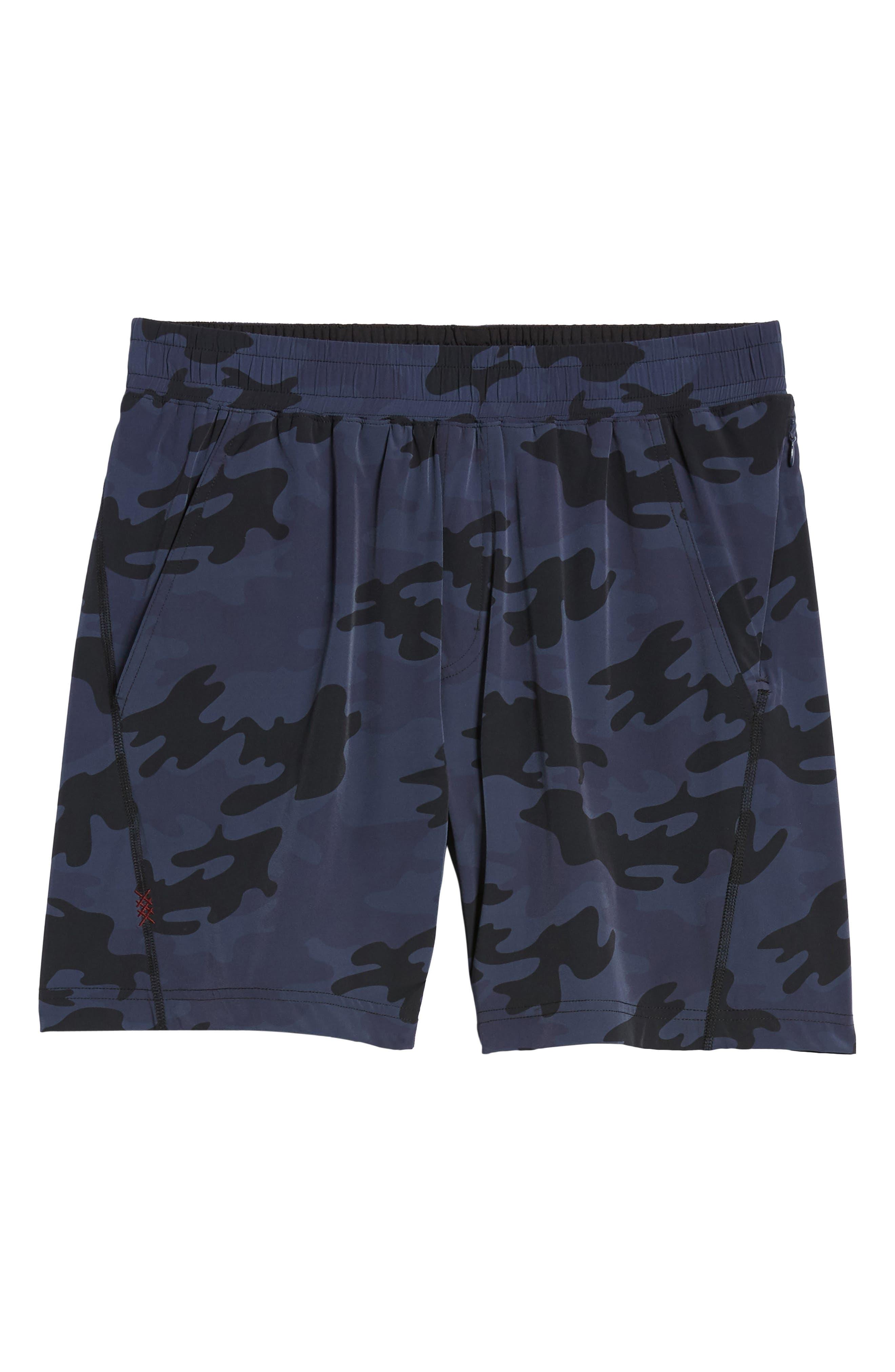 Mako Training Shorts,                             Alternate thumbnail 6, color,                             NAVY CAMO
