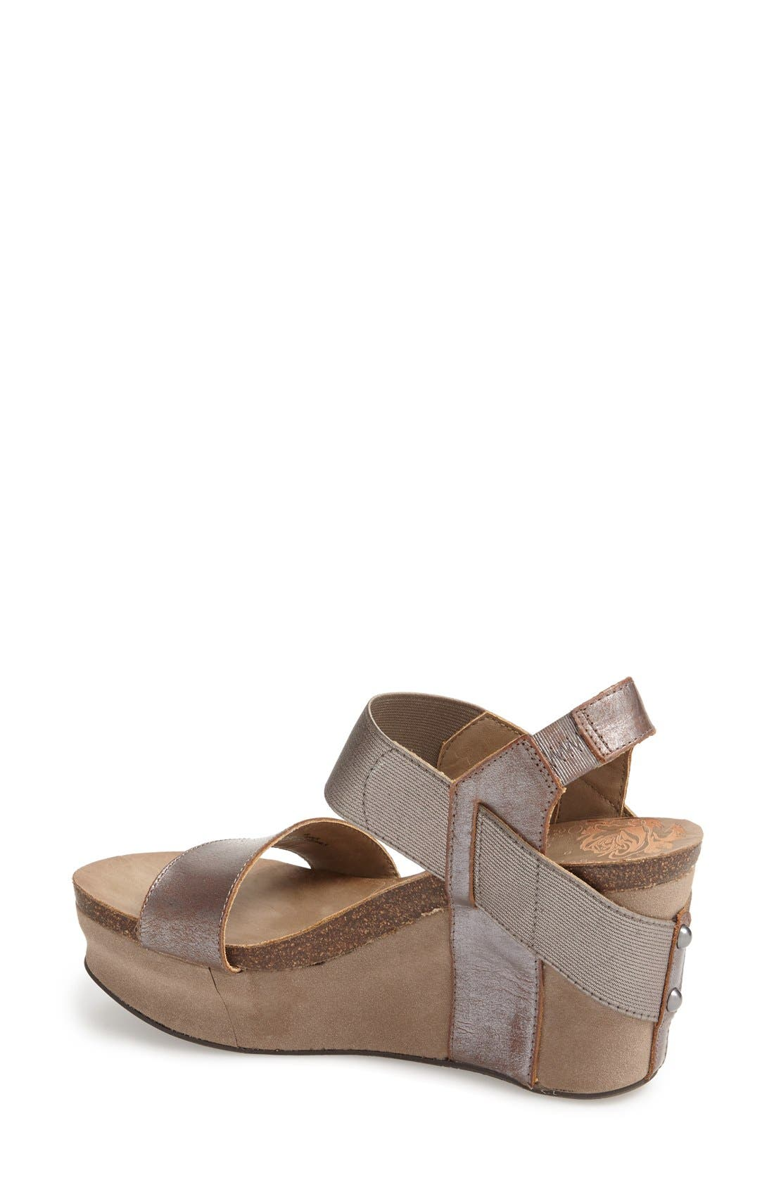 'Bushnell' Wedge Sandal,                             Alternate thumbnail 18, color,