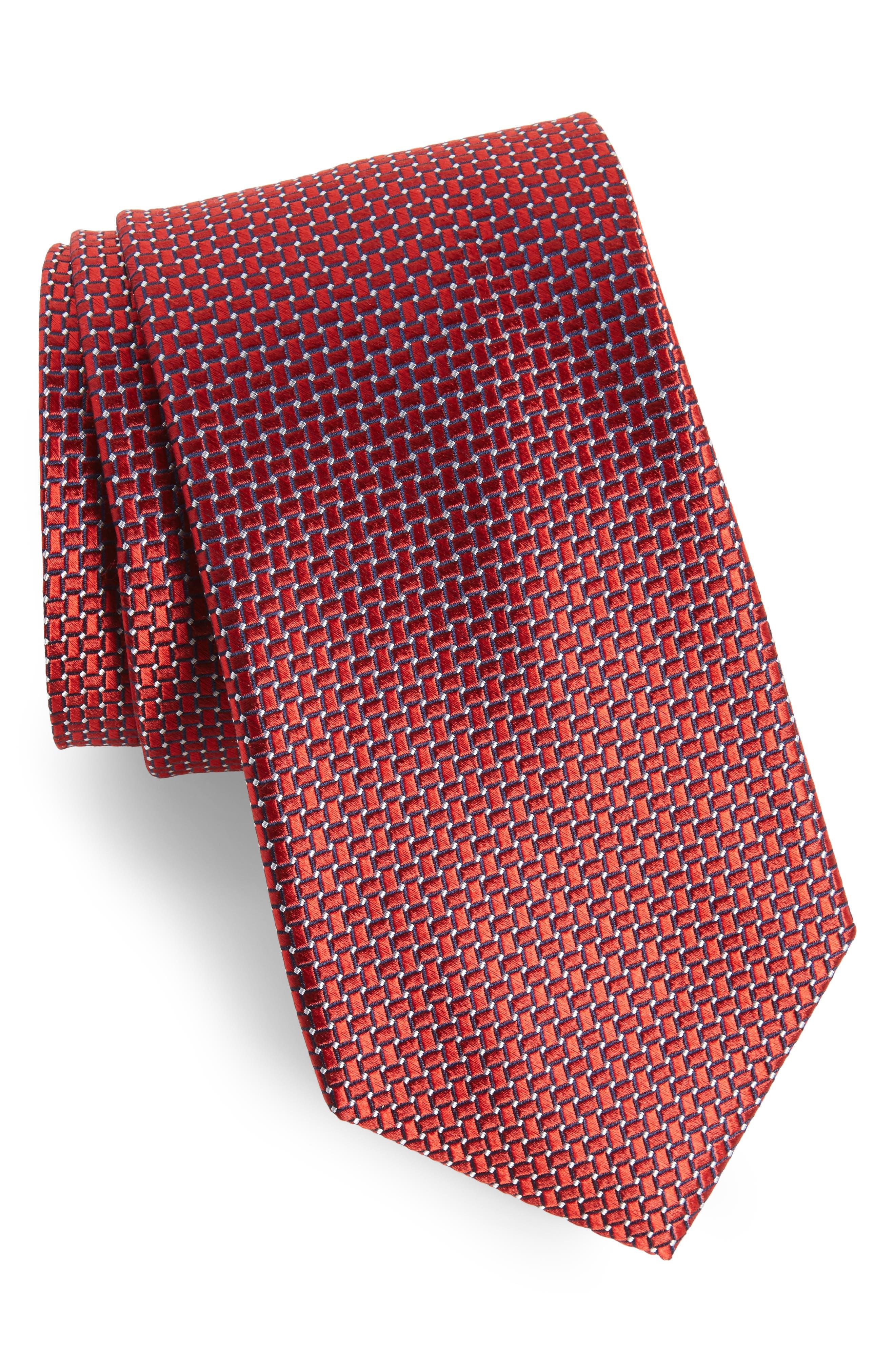 Basketweave Silk Tie,                             Main thumbnail 5, color,