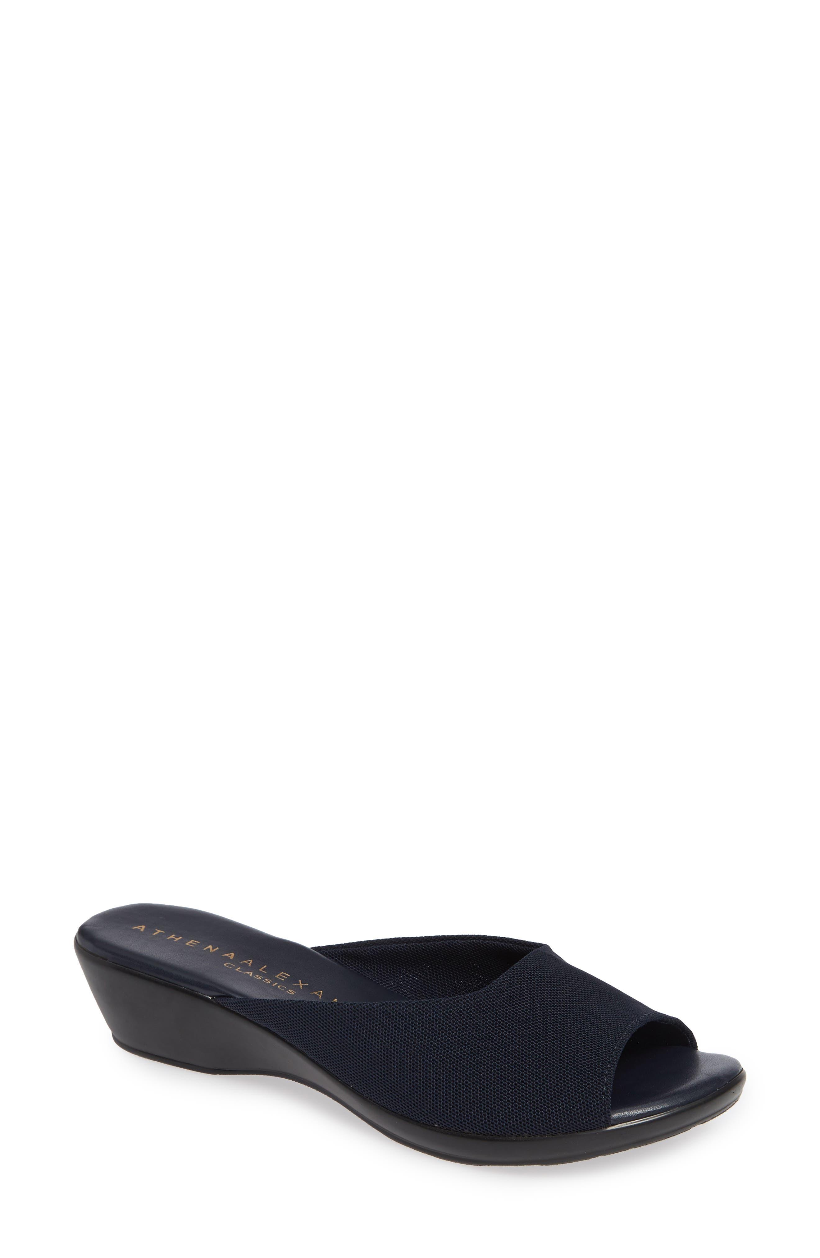 Athena Alexander Bambuca Wedge Slide Sandal, Blue