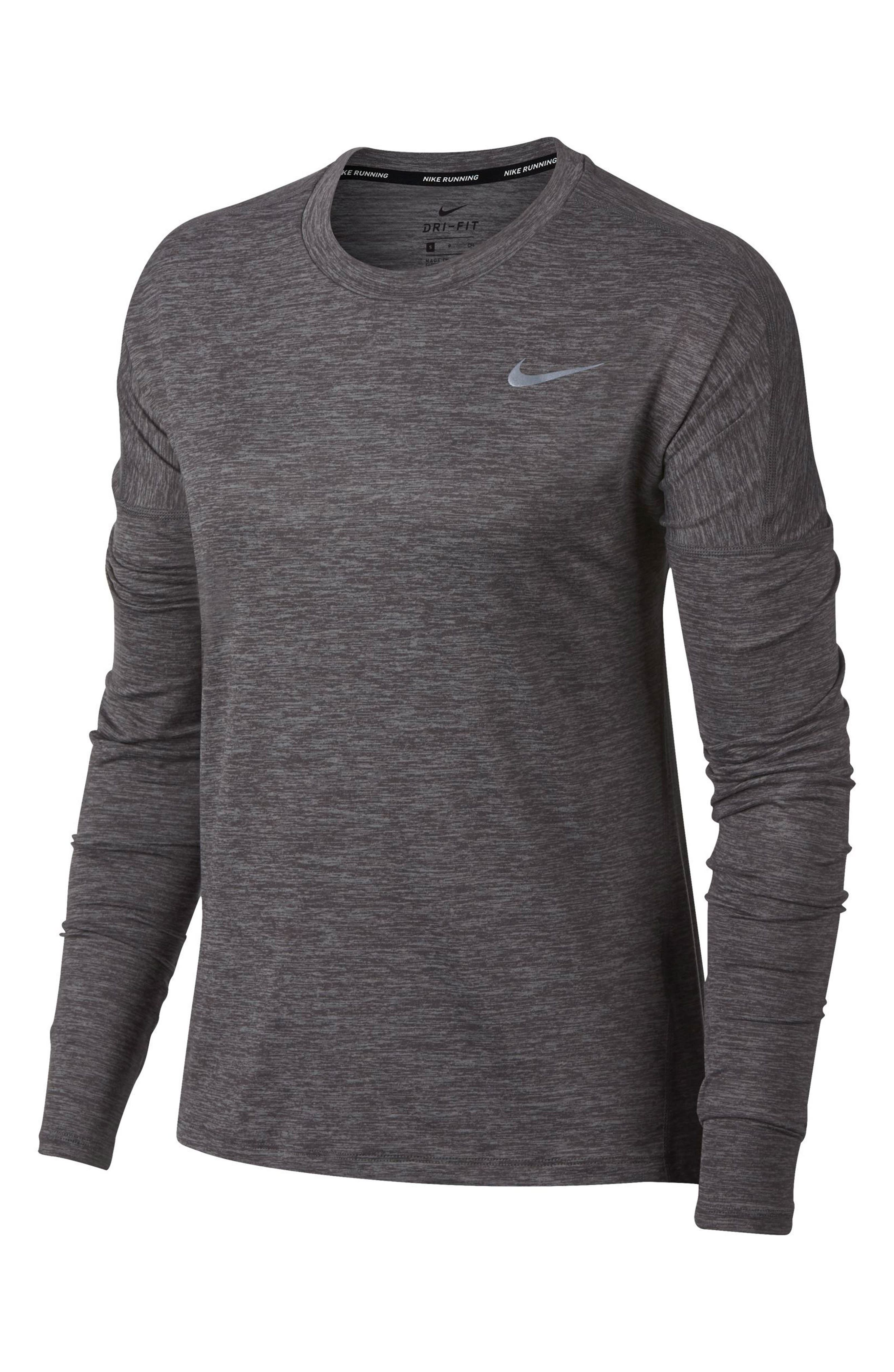 NIKE,                             Dry Element Long Sleeve Top,                             Alternate thumbnail 7, color,                             036
