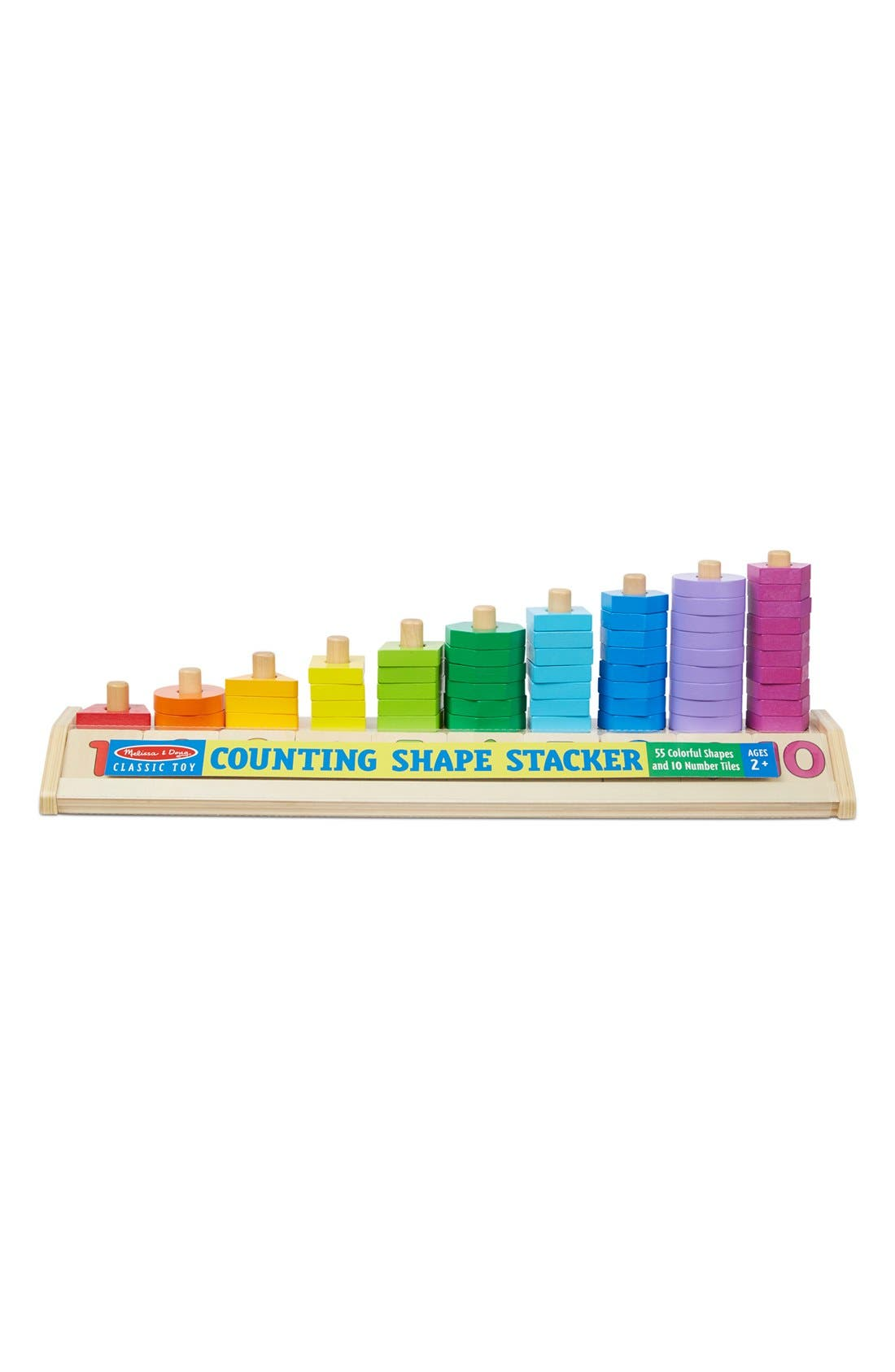 Toddler Melissa  Doug Counting Shape Stacker