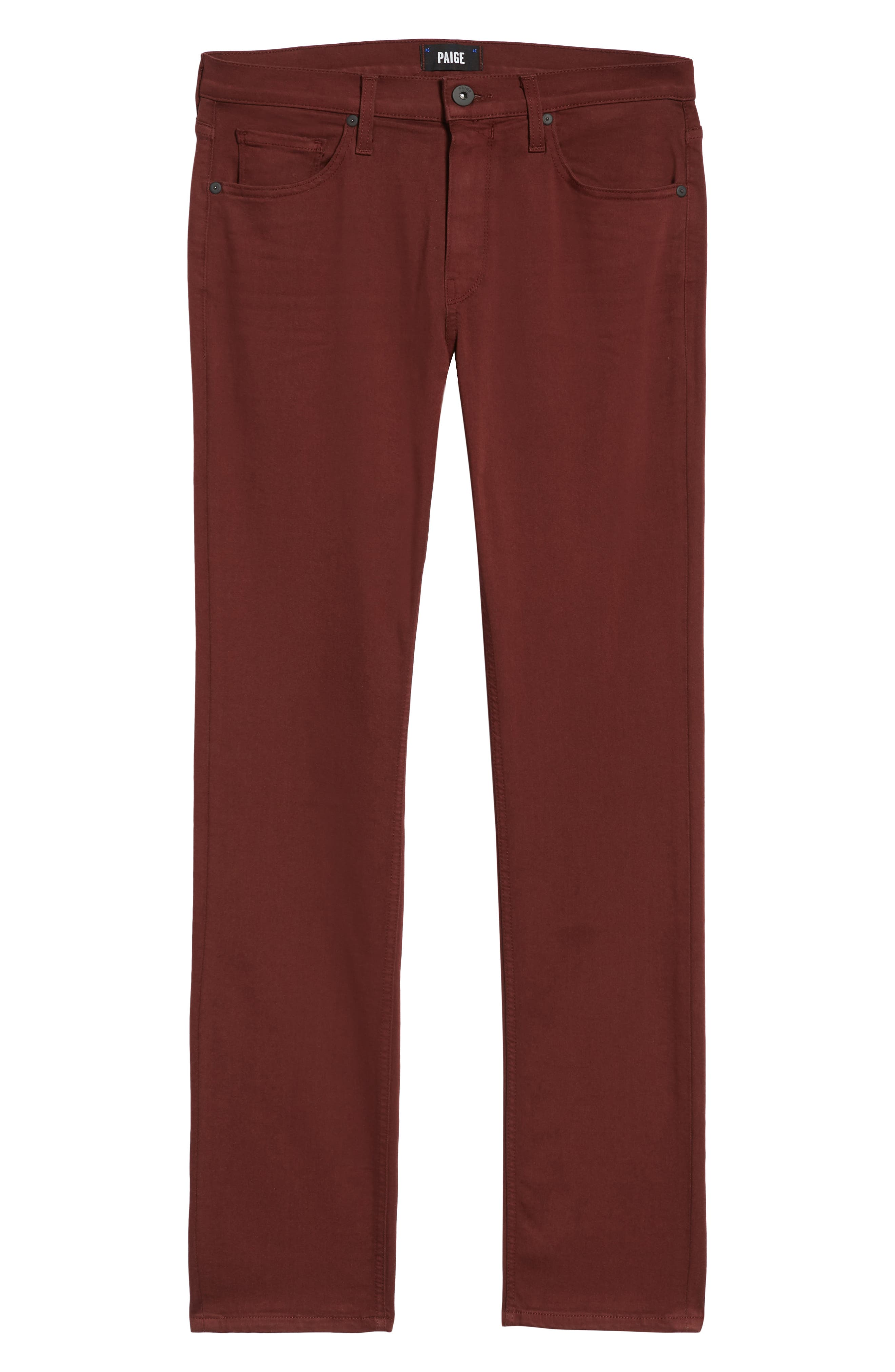 Transcend - Federal Slim Straight Leg Jeans,                             Alternate thumbnail 6, color,                             RUSTIC WINE