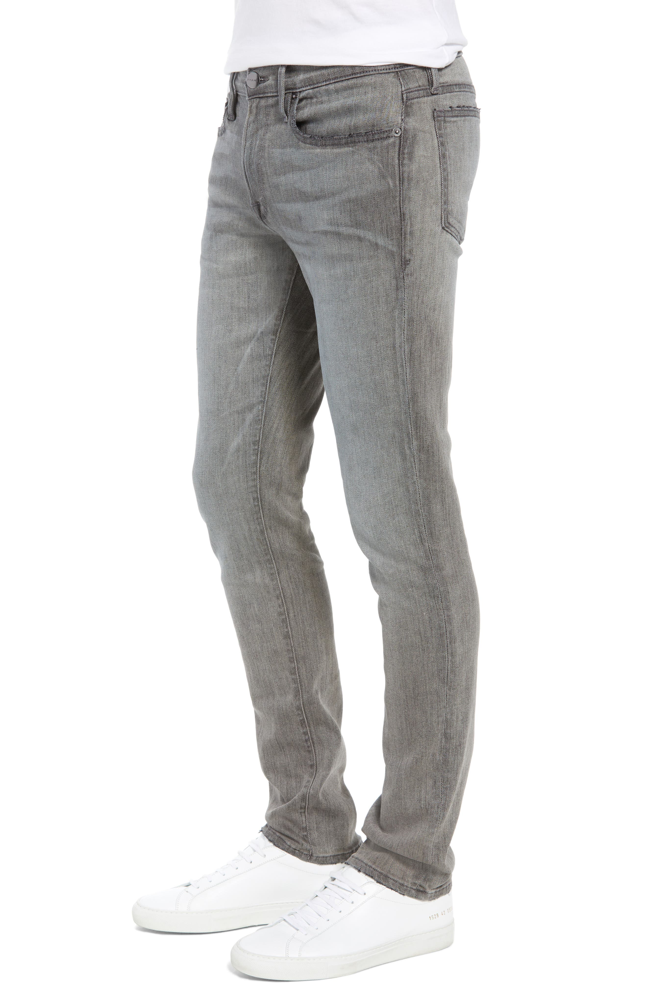 L'Homme Skinny Skinny Fit Jeans,                             Alternate thumbnail 3, color,                             FORT MCHEN