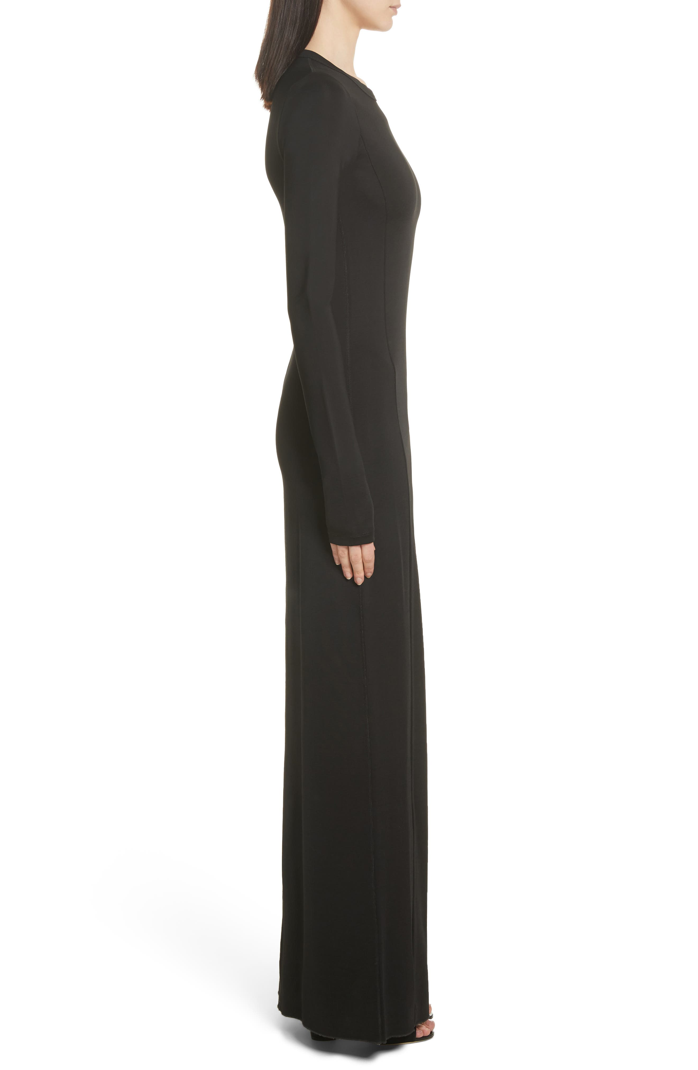 Fallon Slit Skirt Jersey Maxi Dress,                             Alternate thumbnail 3, color,                             001