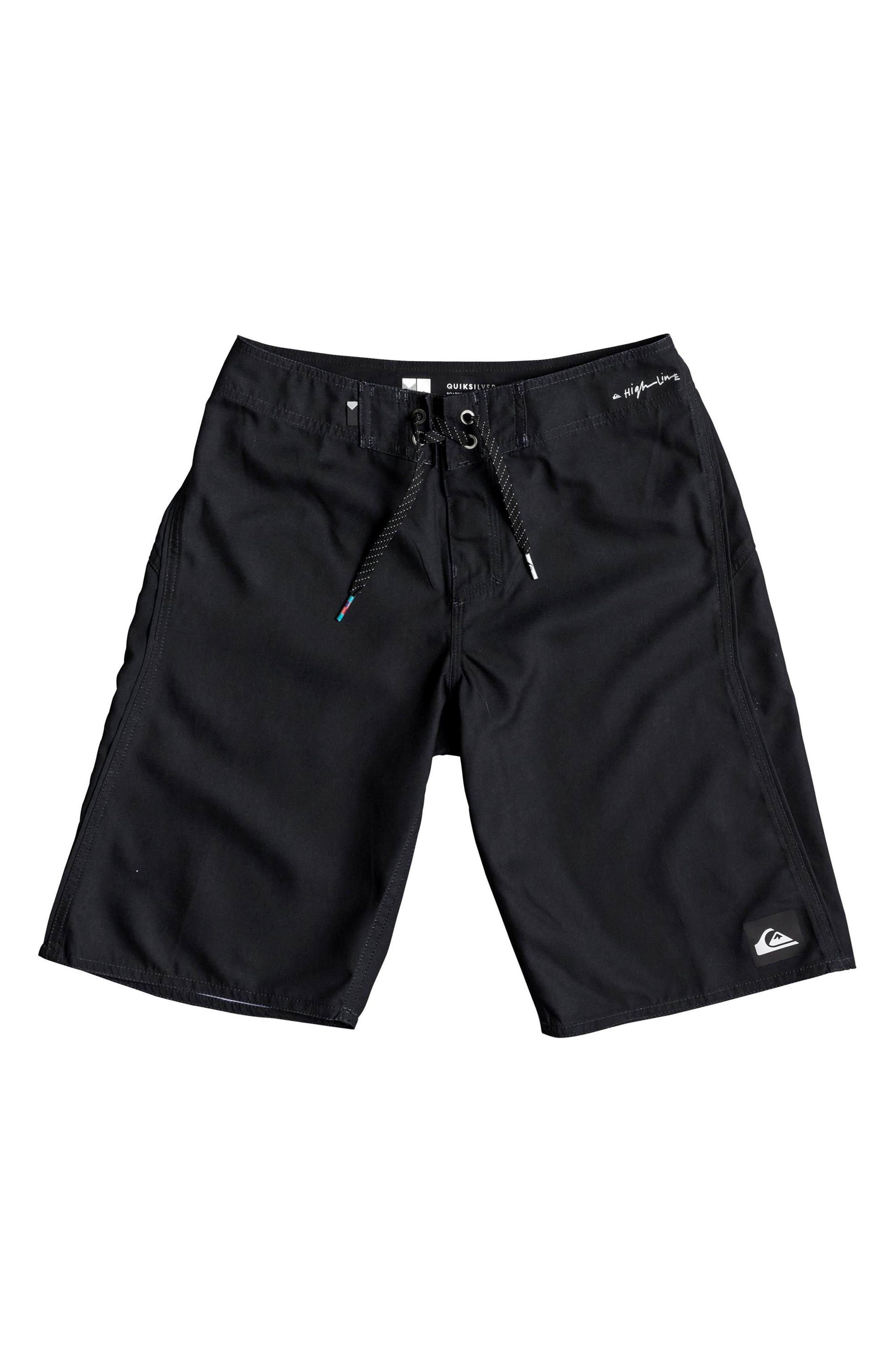 QUIKSILVER Highline Kaimana Board Shorts, Main, color, BLACK