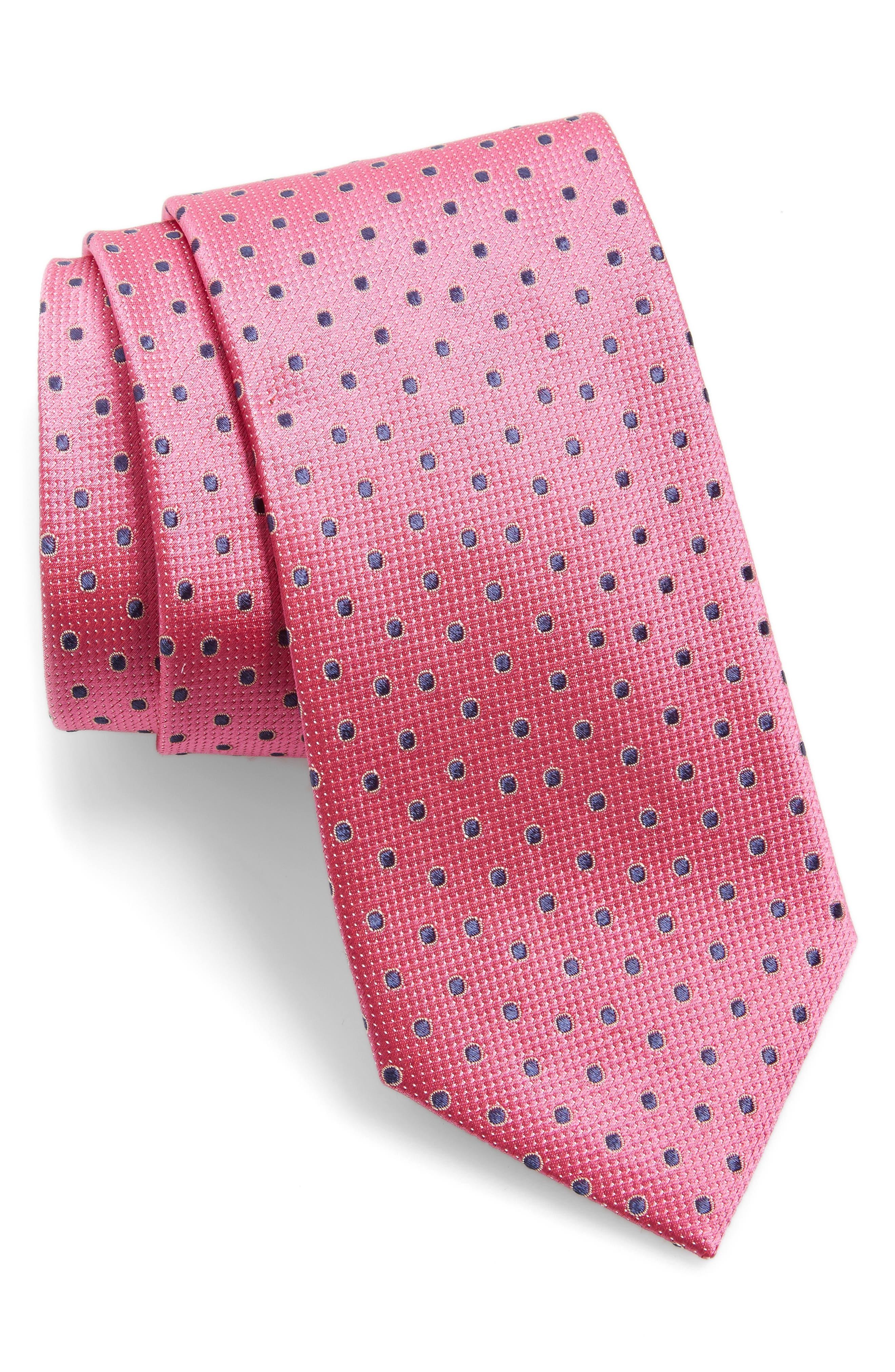 Double Dot Silk Tie,                             Main thumbnail 7, color,