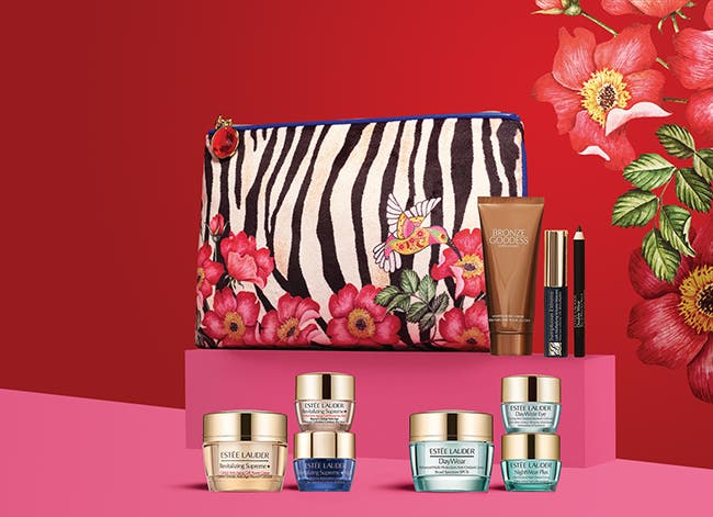 Choose a free gift with $39.50 Estée Lauder purchase. Up to $130 value