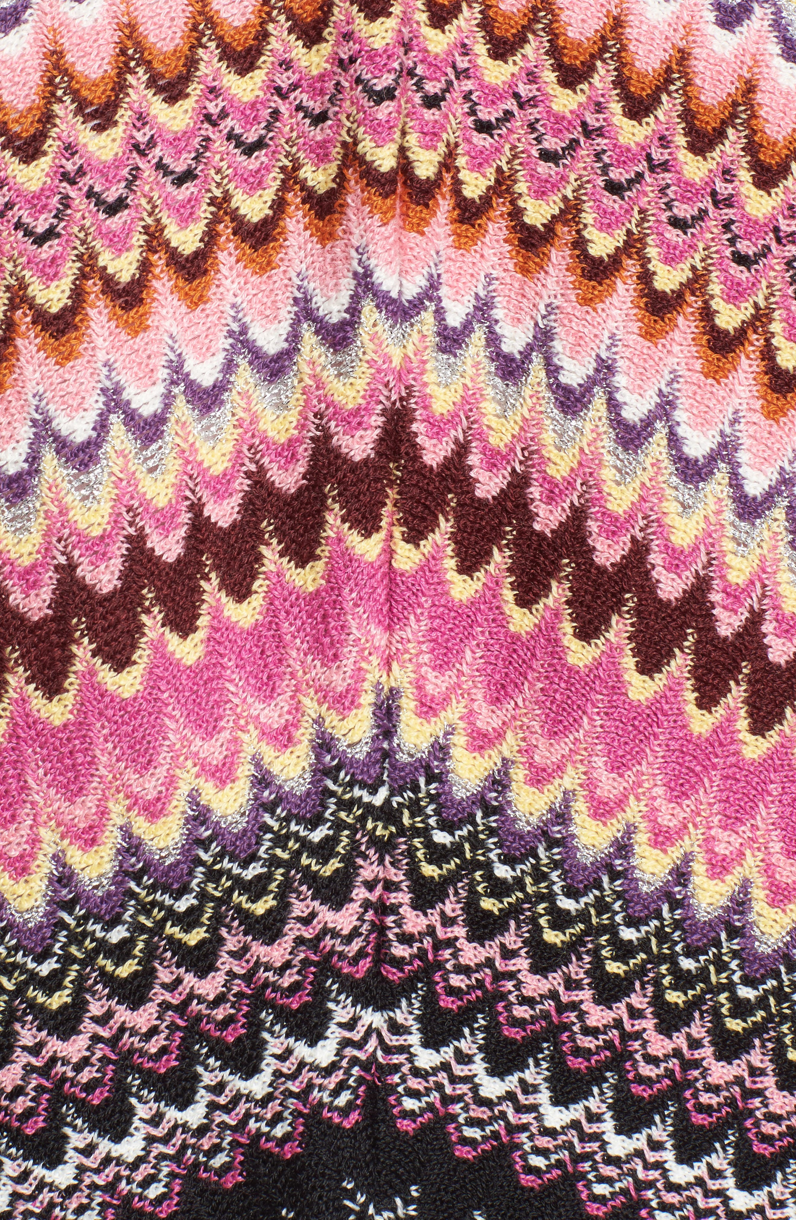 Stripe Poncho,                             Alternate thumbnail 5, color,                             018