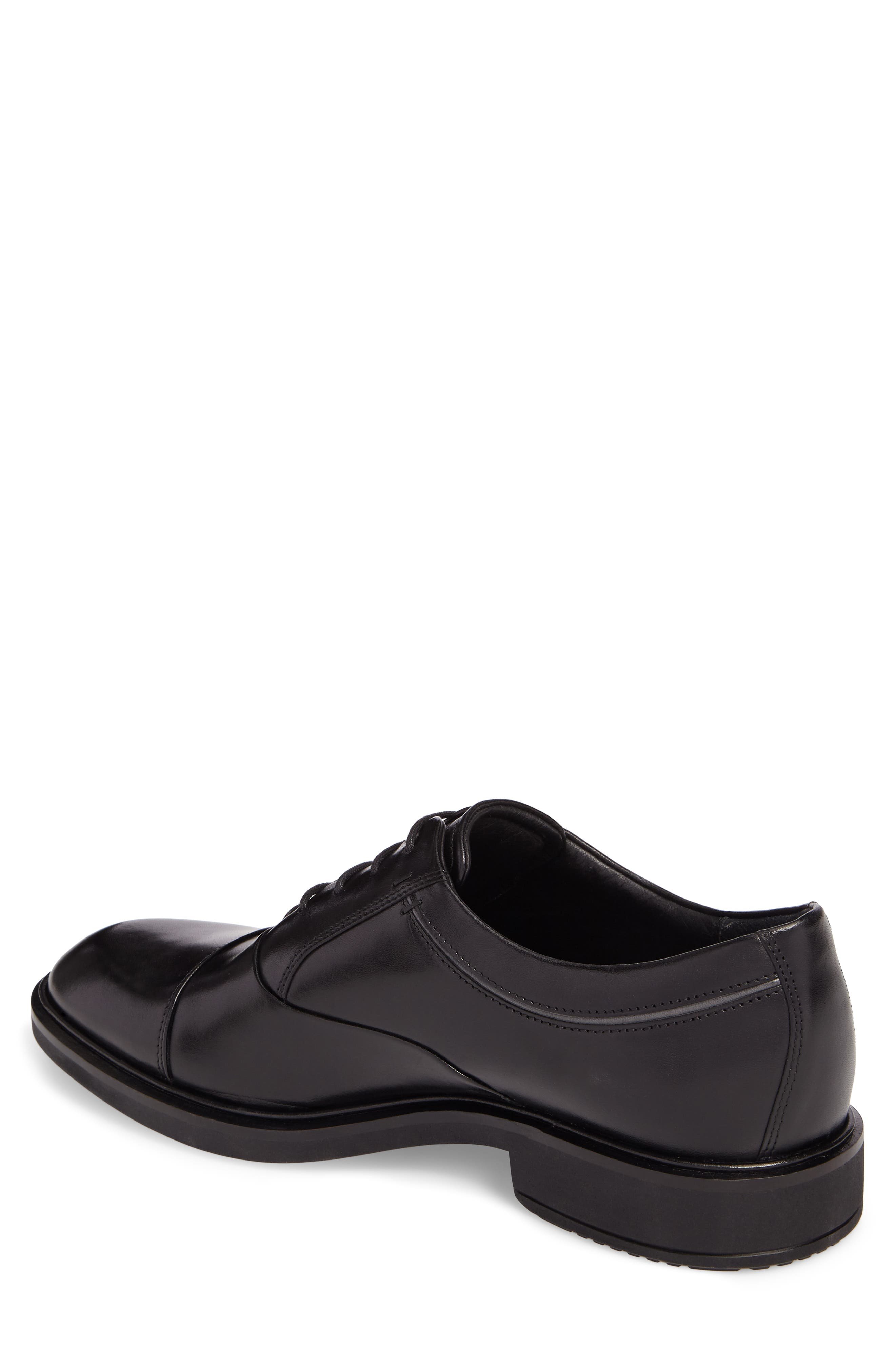 Vitrus II Cap Toe Oxford,                             Alternate thumbnail 2, color,                             BLACK LEATHER