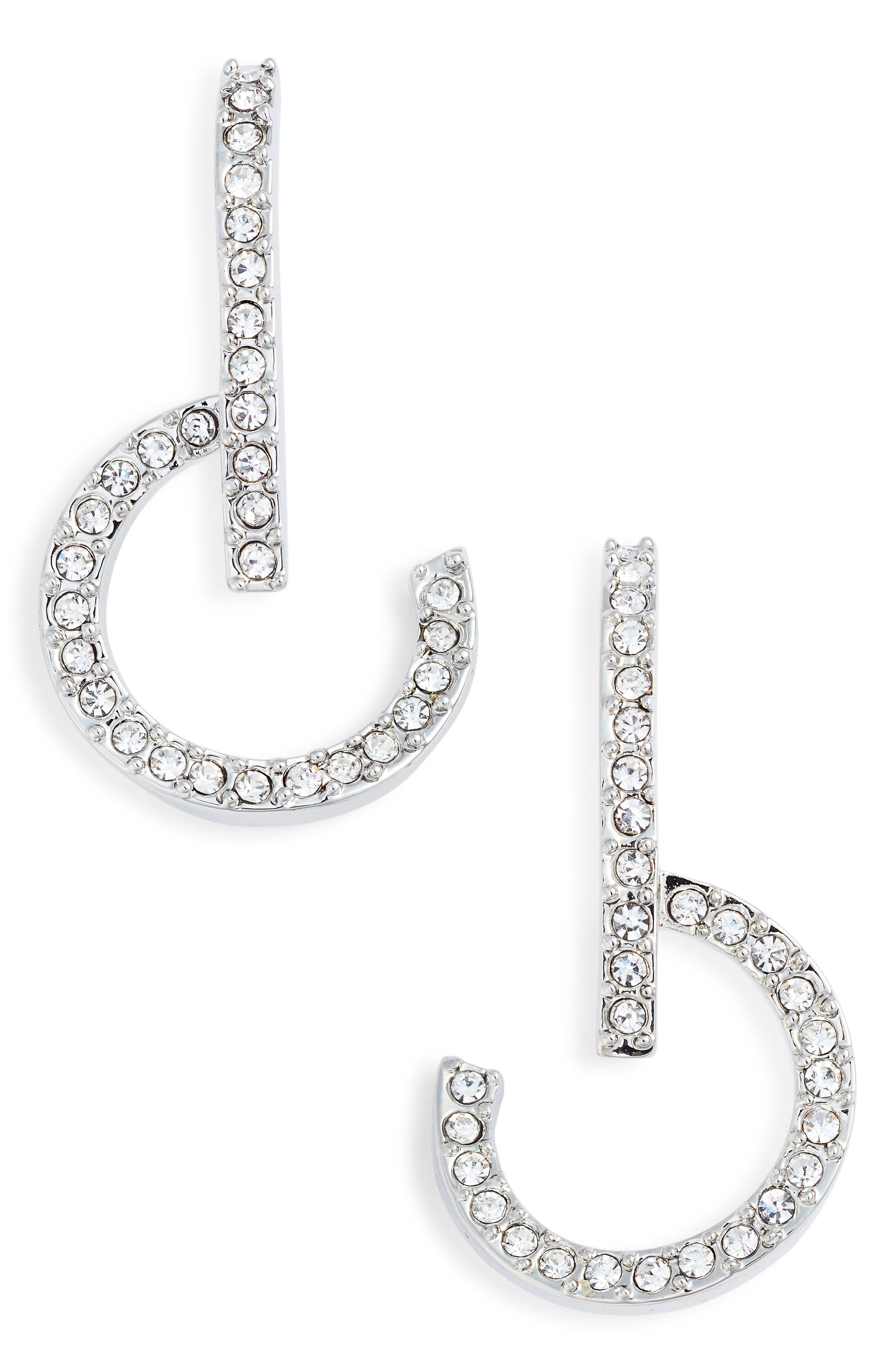 Lobe and Hoop Earrings,                         Main,                         color, 040