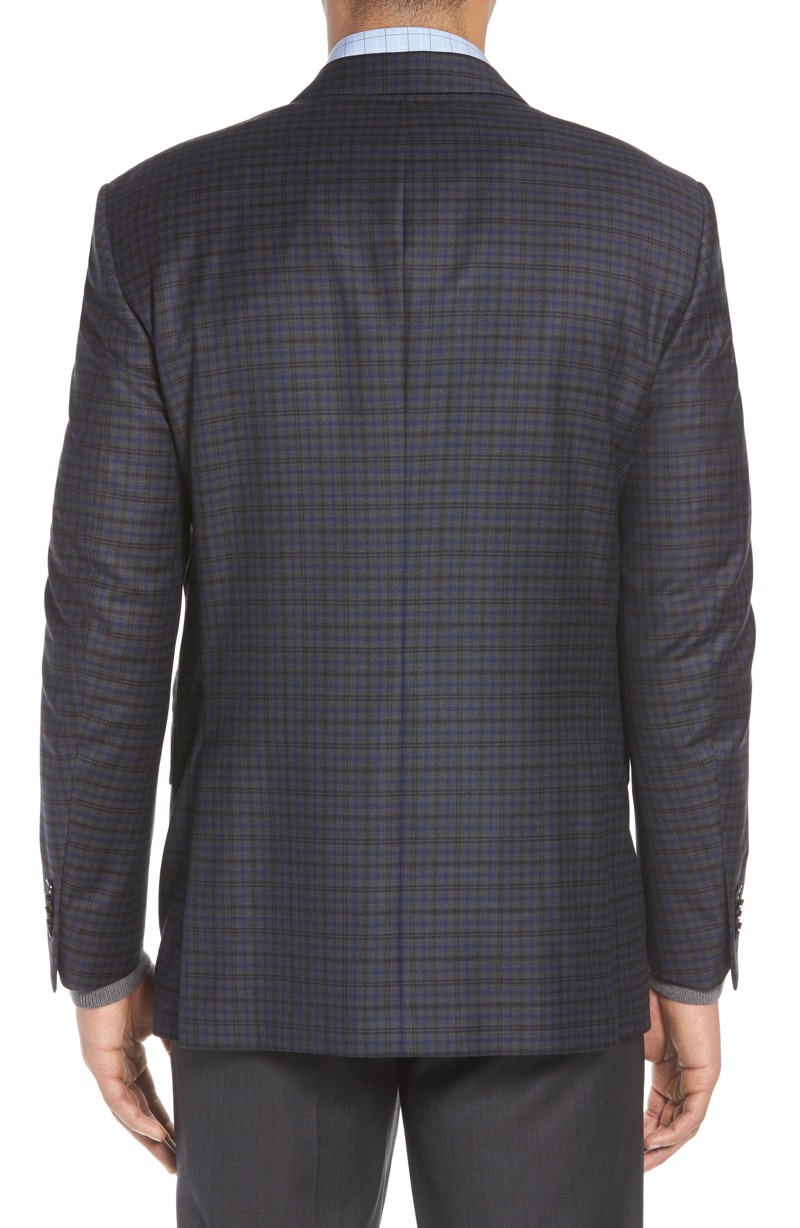 PETER MILLAR,                             Classic Fit Windowpane Check Wool Sport Coat,                             Alternate thumbnail 2, color,                             020
