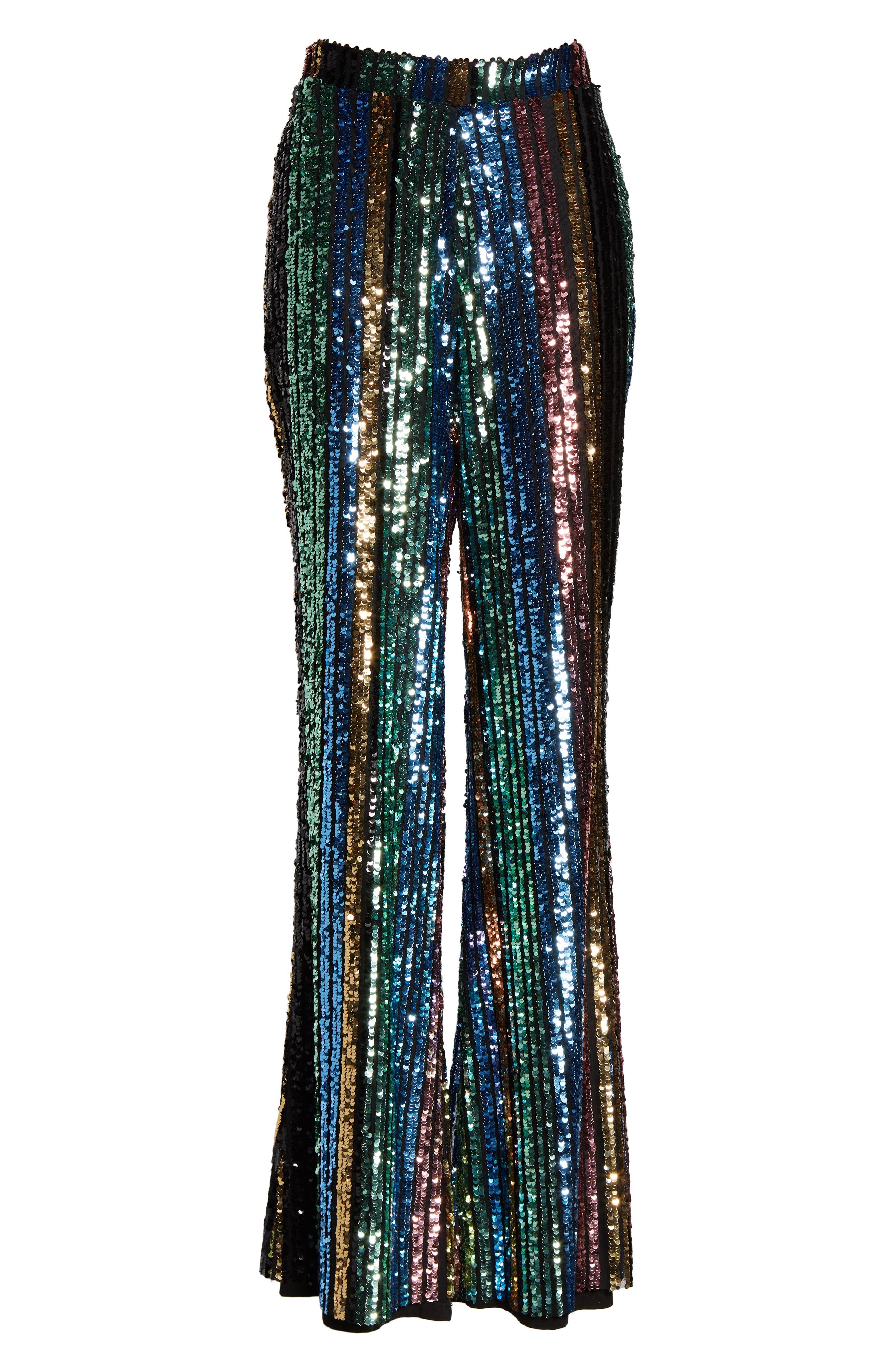 Leigh High Waist Sequin Stripe Pants,                             Alternate thumbnail 7, color,                             COCKTAIL STRIPE SEQUINS