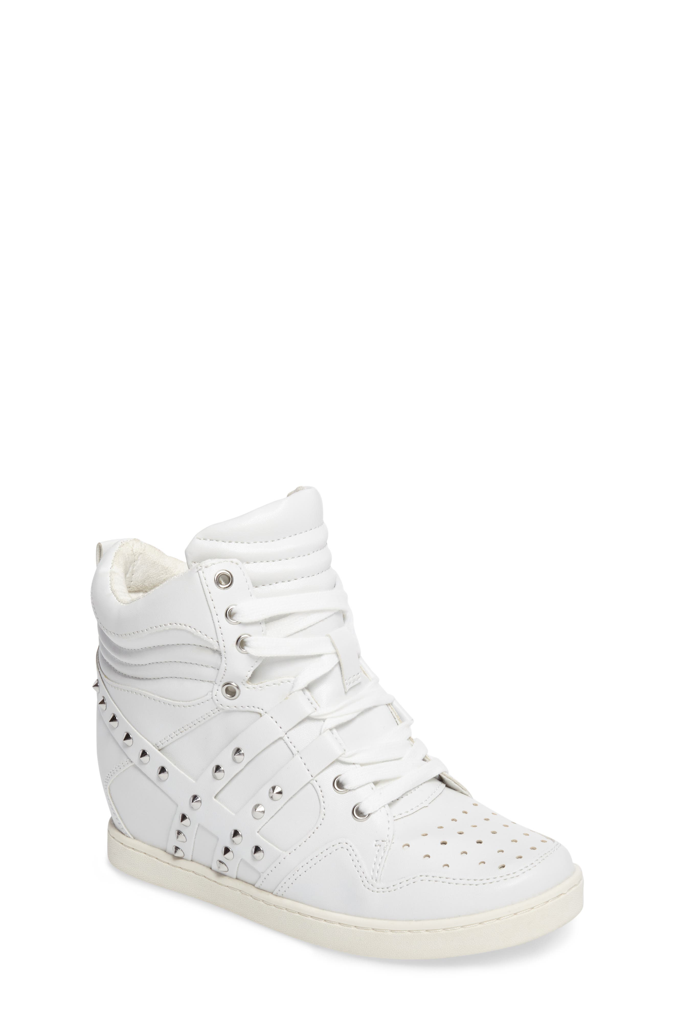 Boogie Chic Studded High Top Sneaker,                             Main thumbnail 2, color,