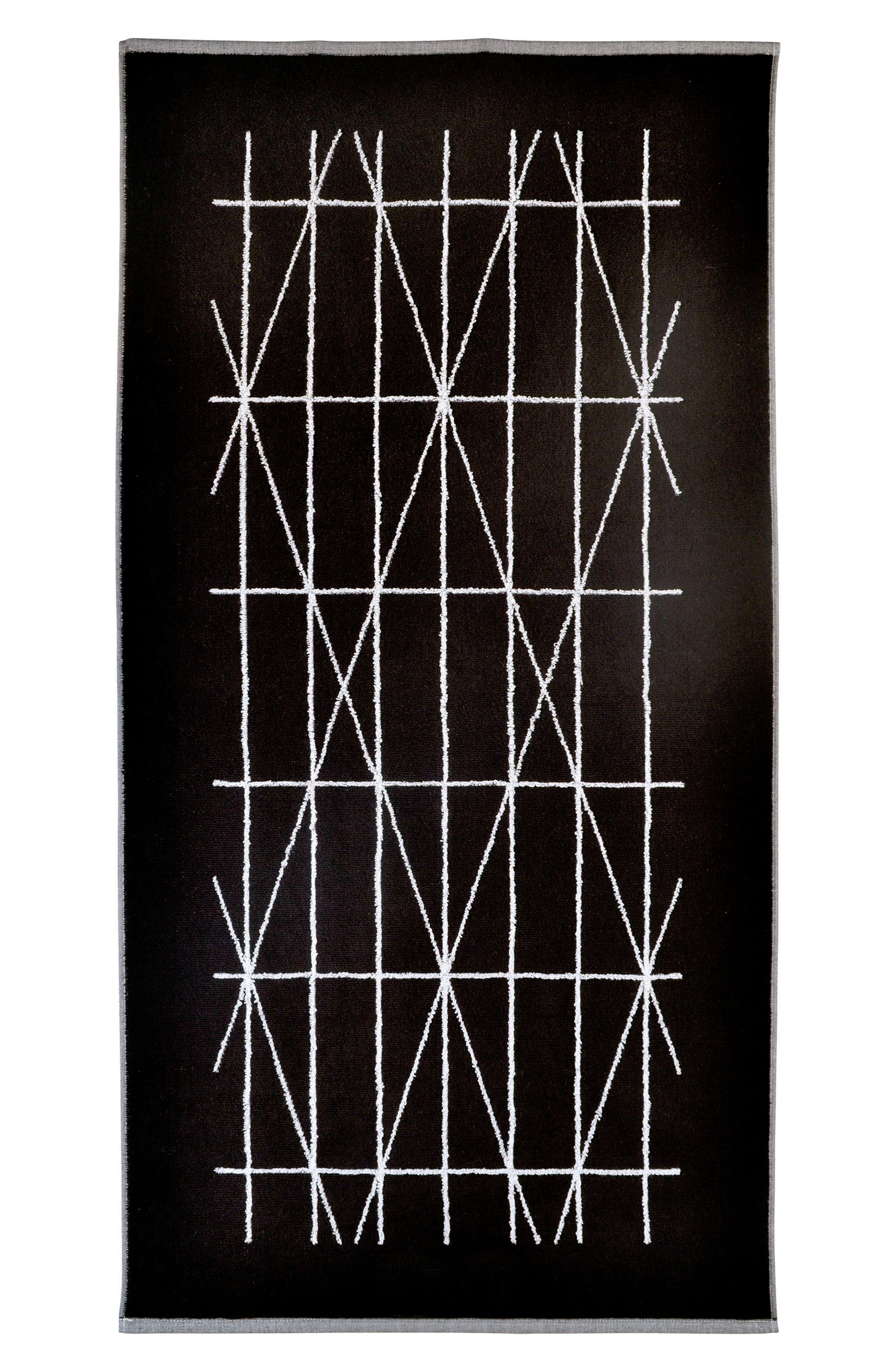 Geometrix Hand Towel,                             Alternate thumbnail 2, color,                             001