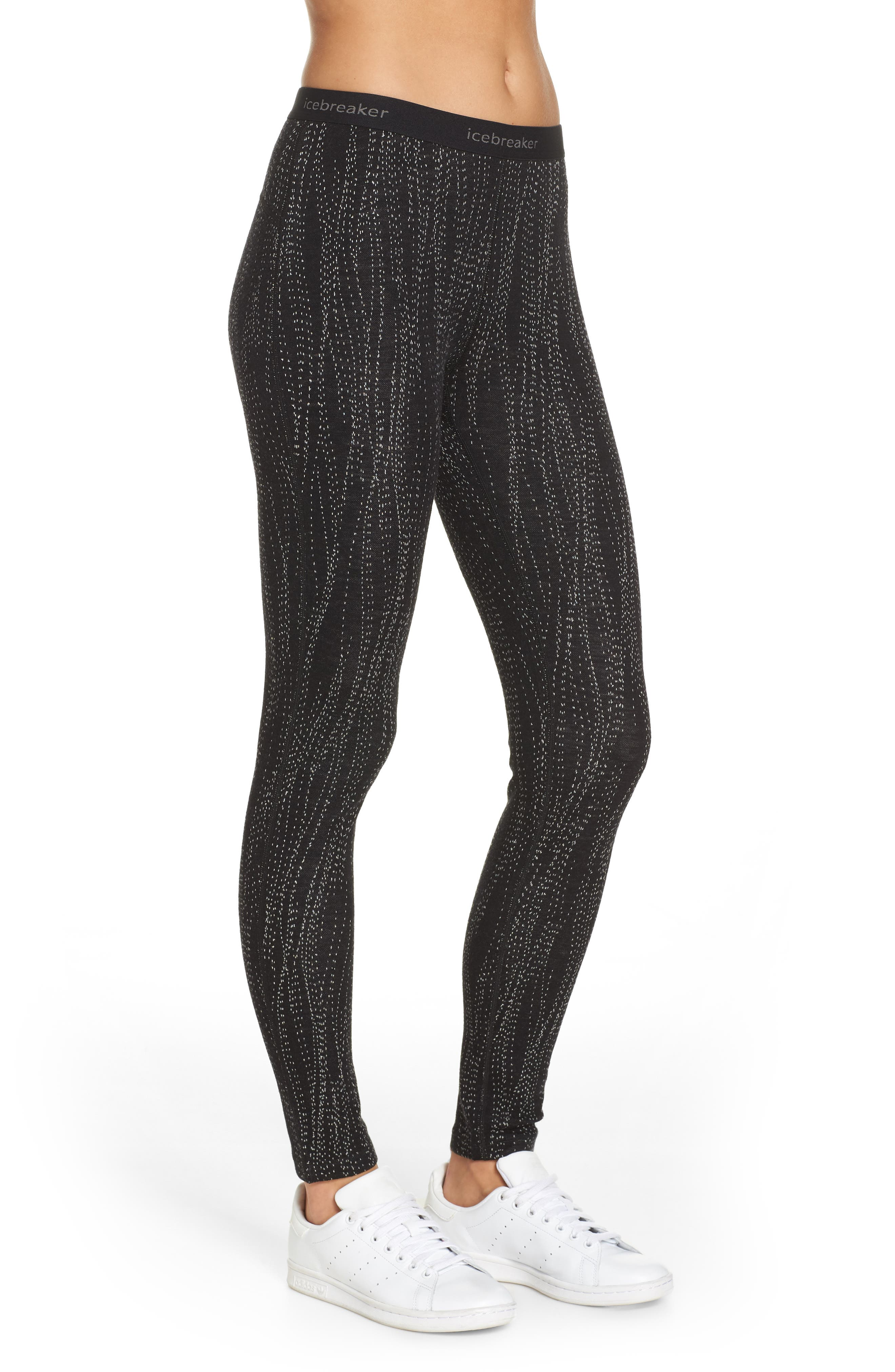250 Vertex Merino Wool Base Layer Leggings,                             Alternate thumbnail 3, color,                             BLACK/ SNOW