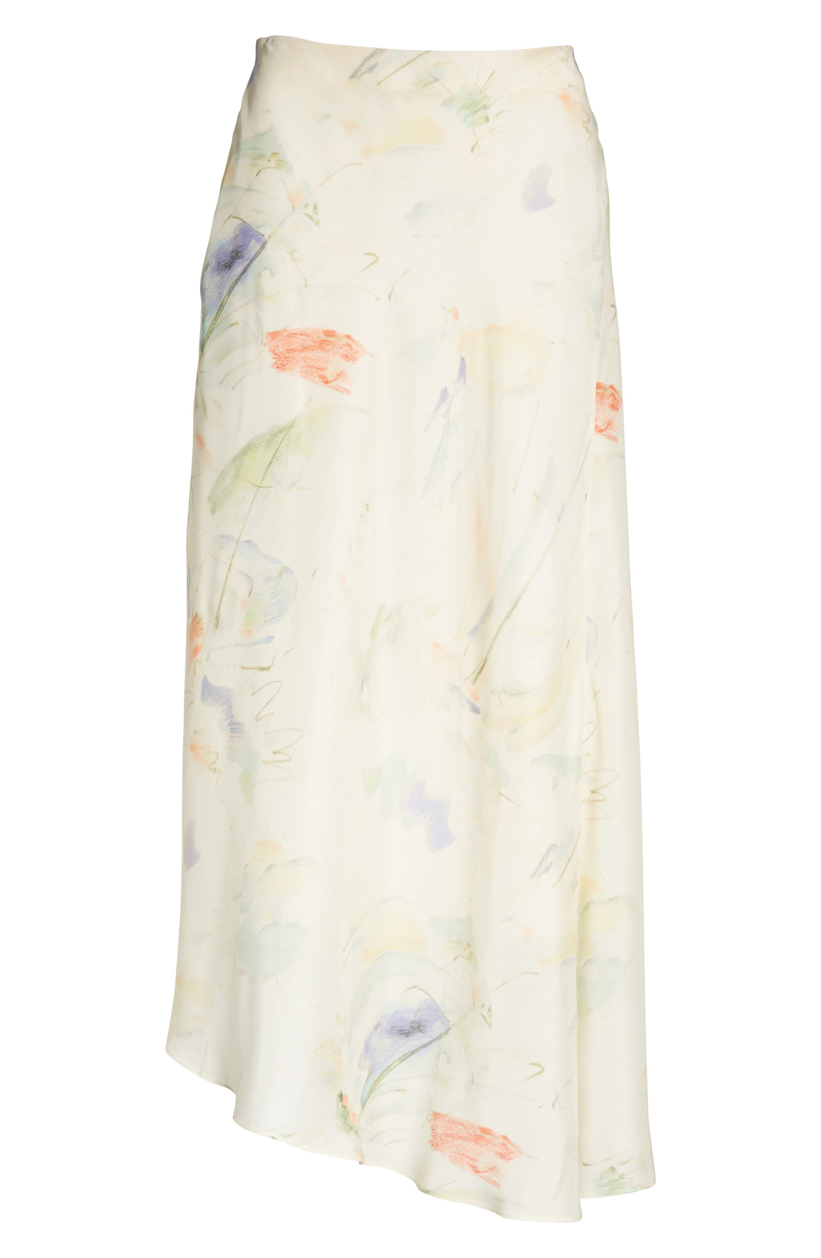 Dessie Modern Muse Print Silk Midi Skirt,                             Alternate thumbnail 6, color,