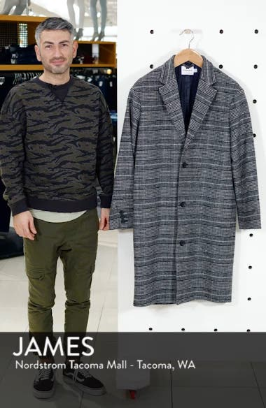 Hayden Check Print Overcoat, sales video thumbnail