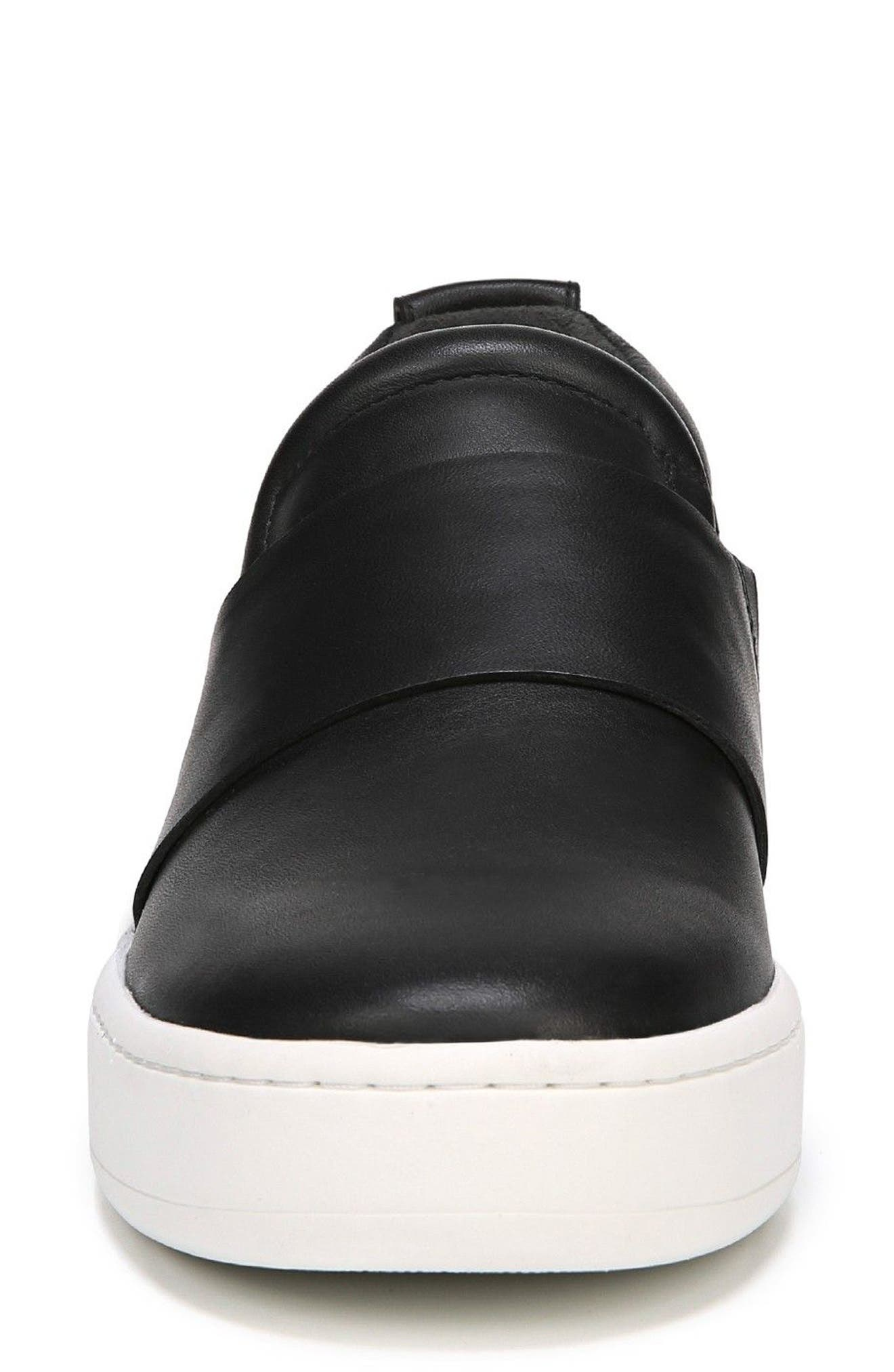 Ryder Slip-On Sneaker,                             Alternate thumbnail 4, color,                             BLACK LEATHER