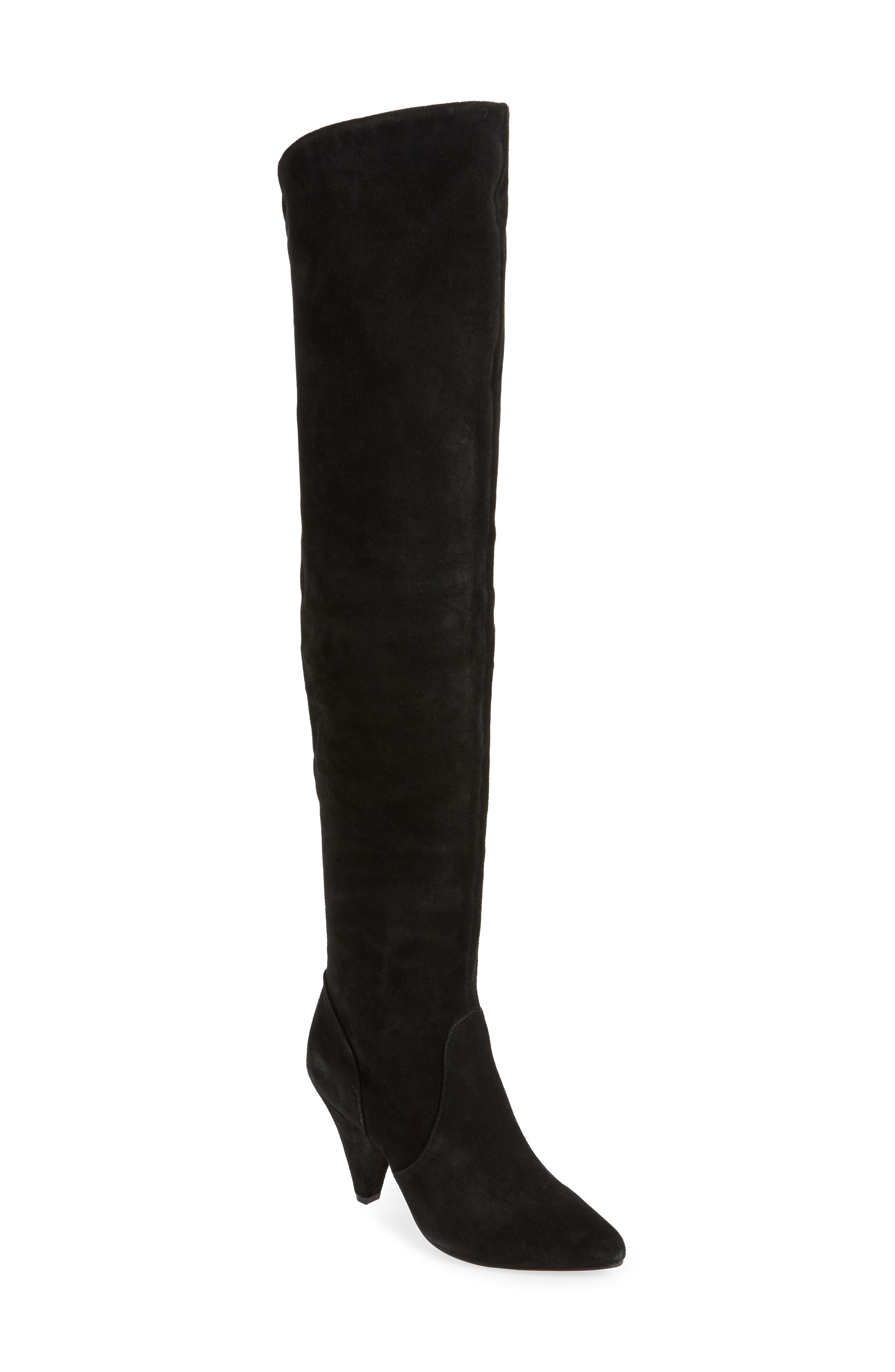 KURT GEIGER Women'S Violet Over-The-Knee Boots in Black Suede