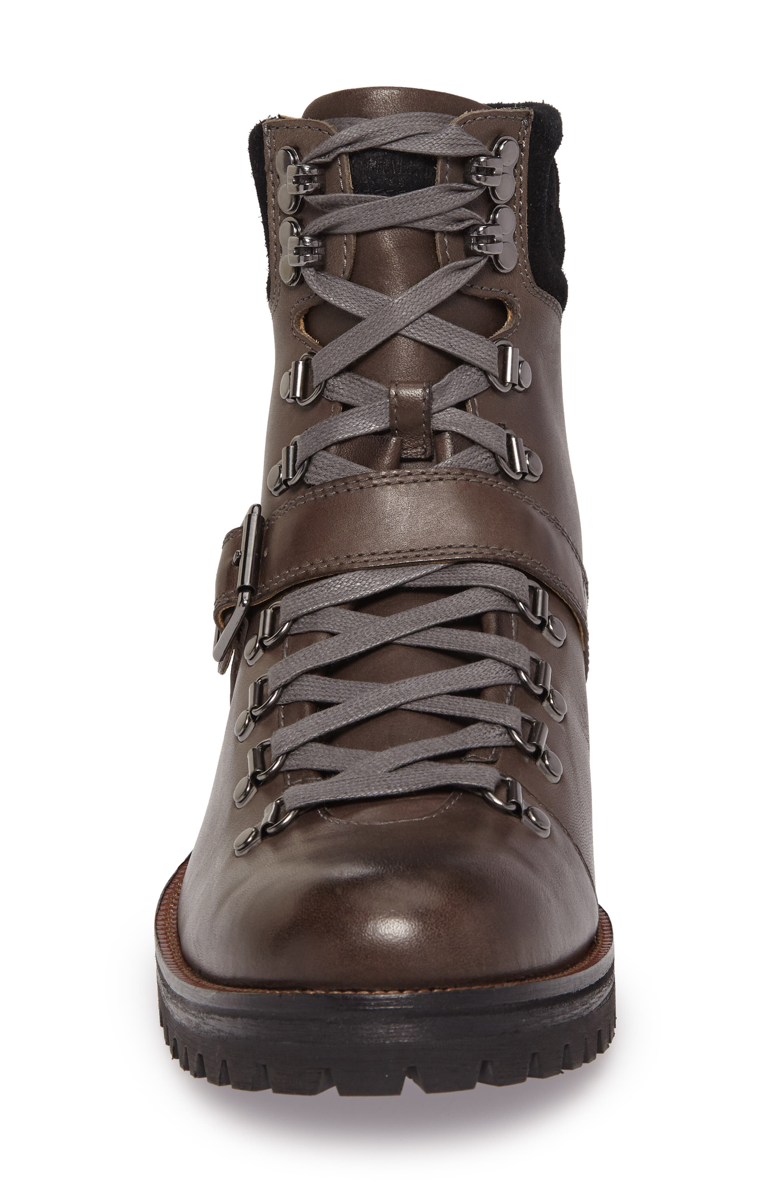 Storm Lug Hiker Boot,                             Alternate thumbnail 4, color,                             GREY LEATHER