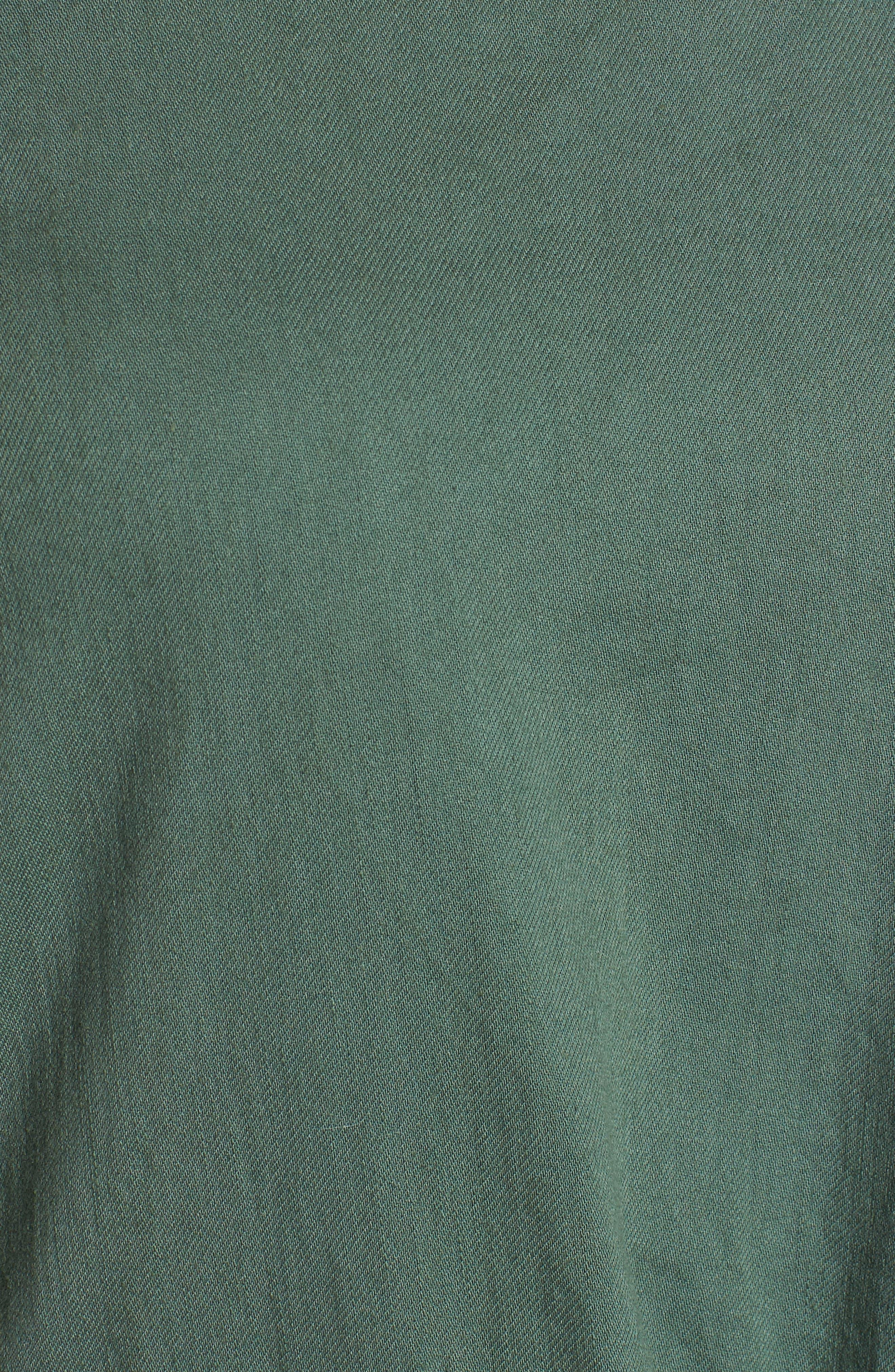 Drawstring Organic Cotton Midi Dress,                             Alternate thumbnail 20, color,
