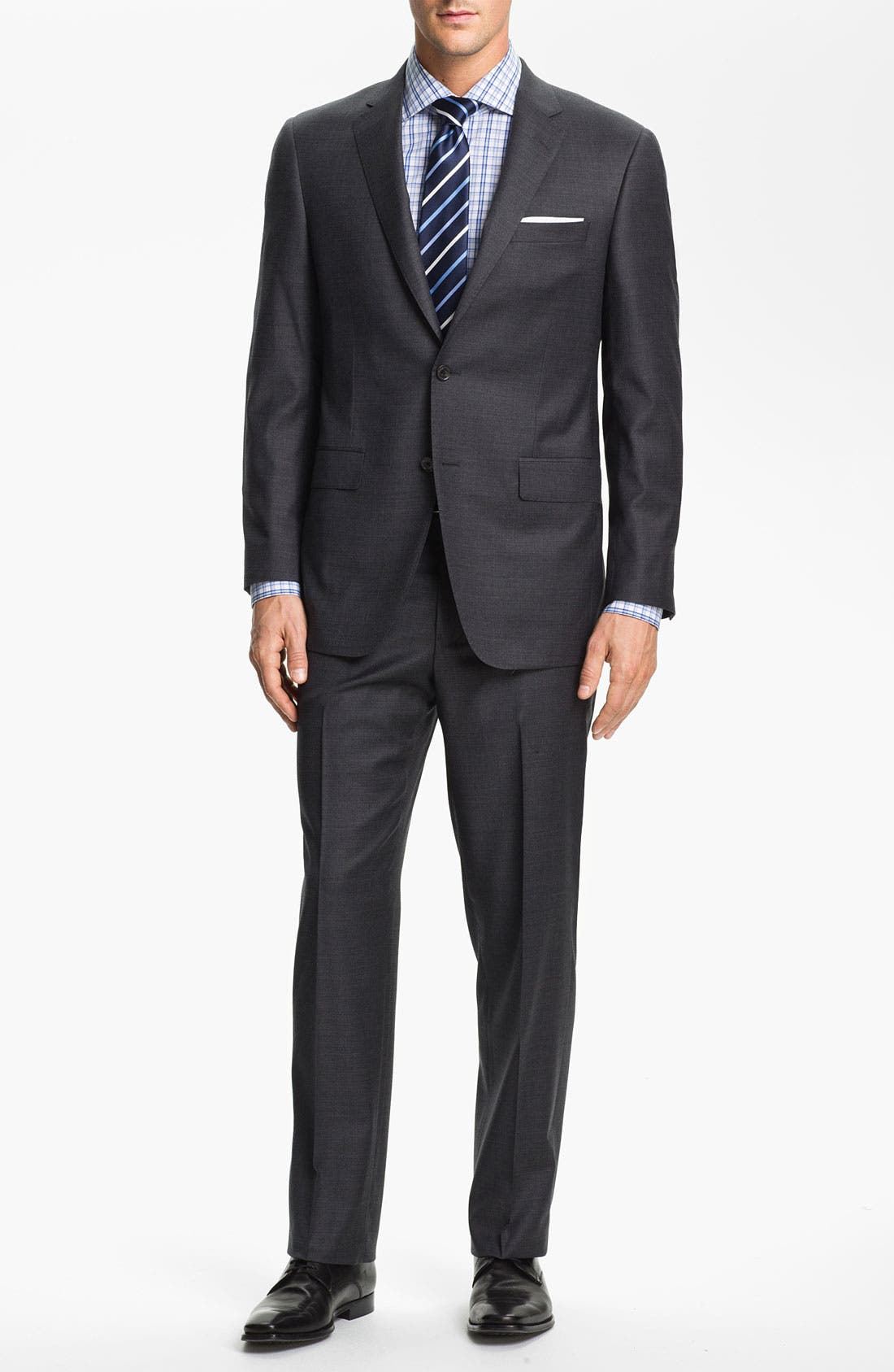 SAMUELSOHN 'Performance' Stretch Wool Suit, Main, color, 020