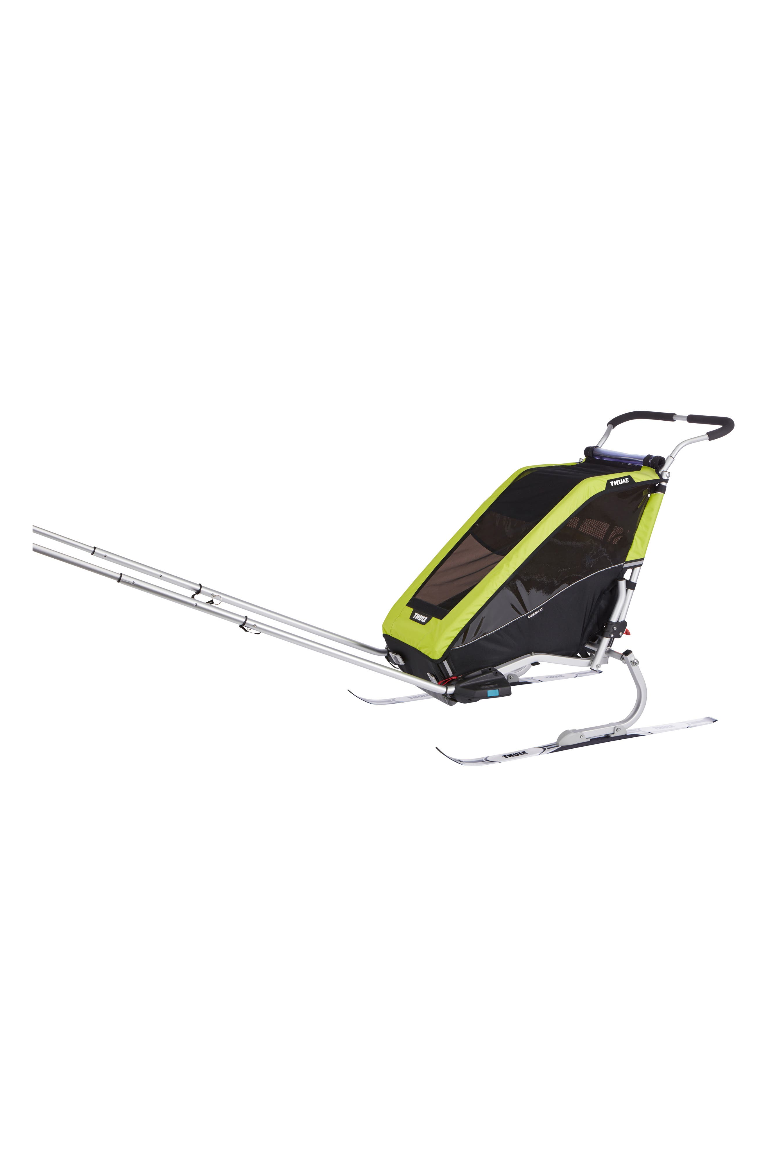 Chariot Cheetah XT 2 Multisport Cycle Trailer/Stroller,                             Alternate thumbnail 4, color,                             CHARTREUSE