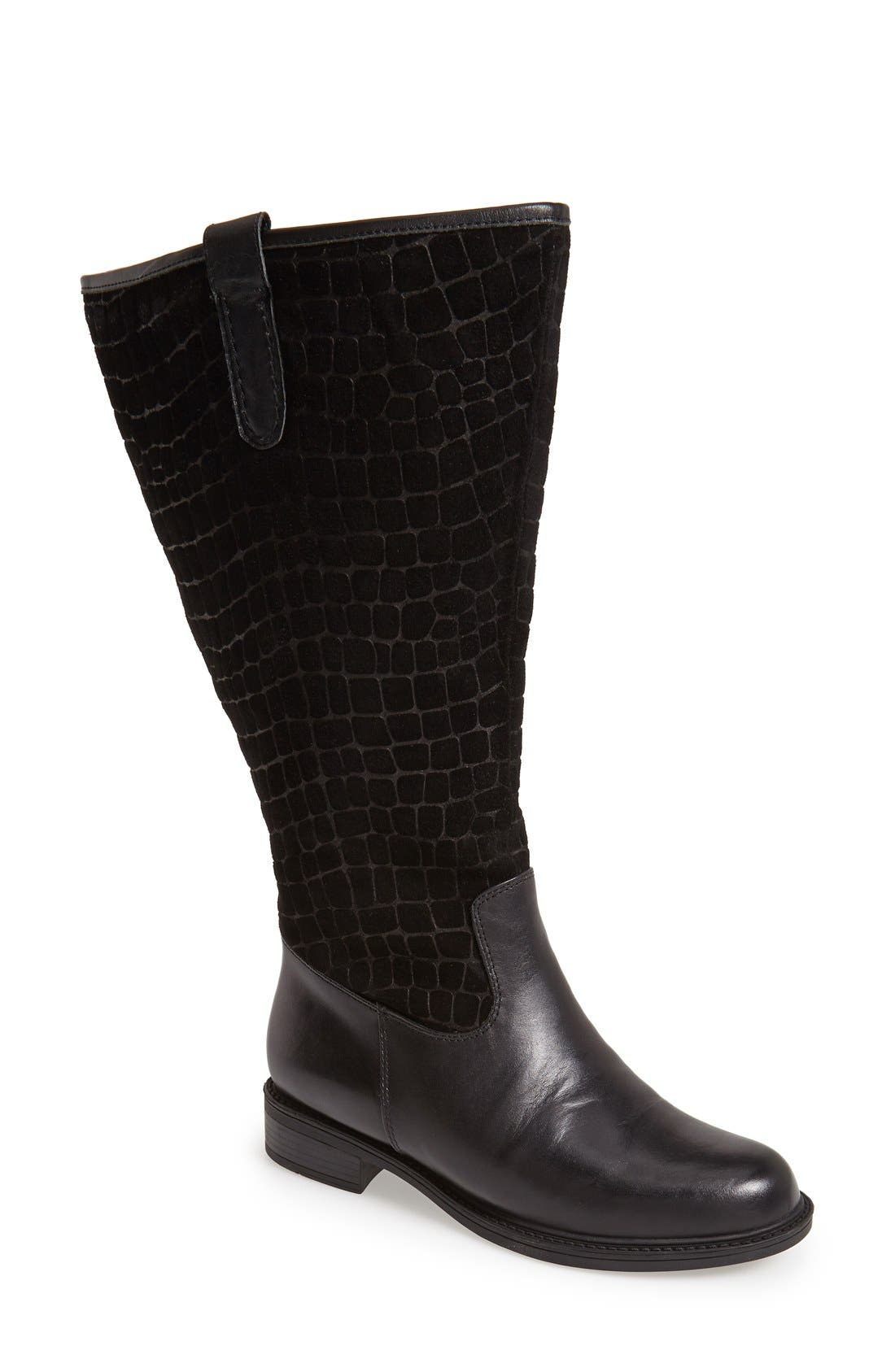 'Best' Calfskin Leather & Suede Boot,                             Main thumbnail 2, color,