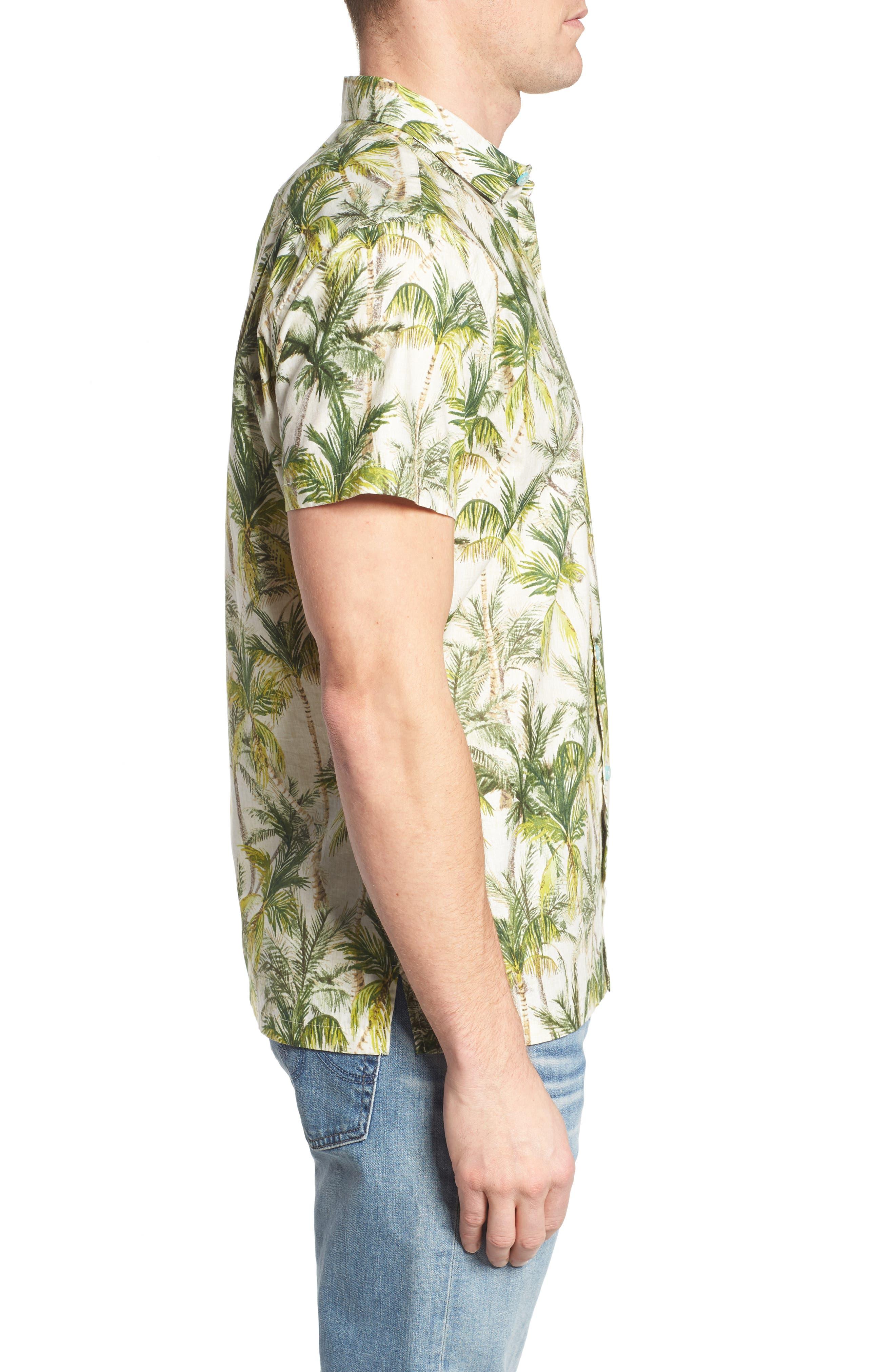 Coco Vida Trim Fit Print Cotton Lawn Sport Shirt,                             Alternate thumbnail 3, color,                             102