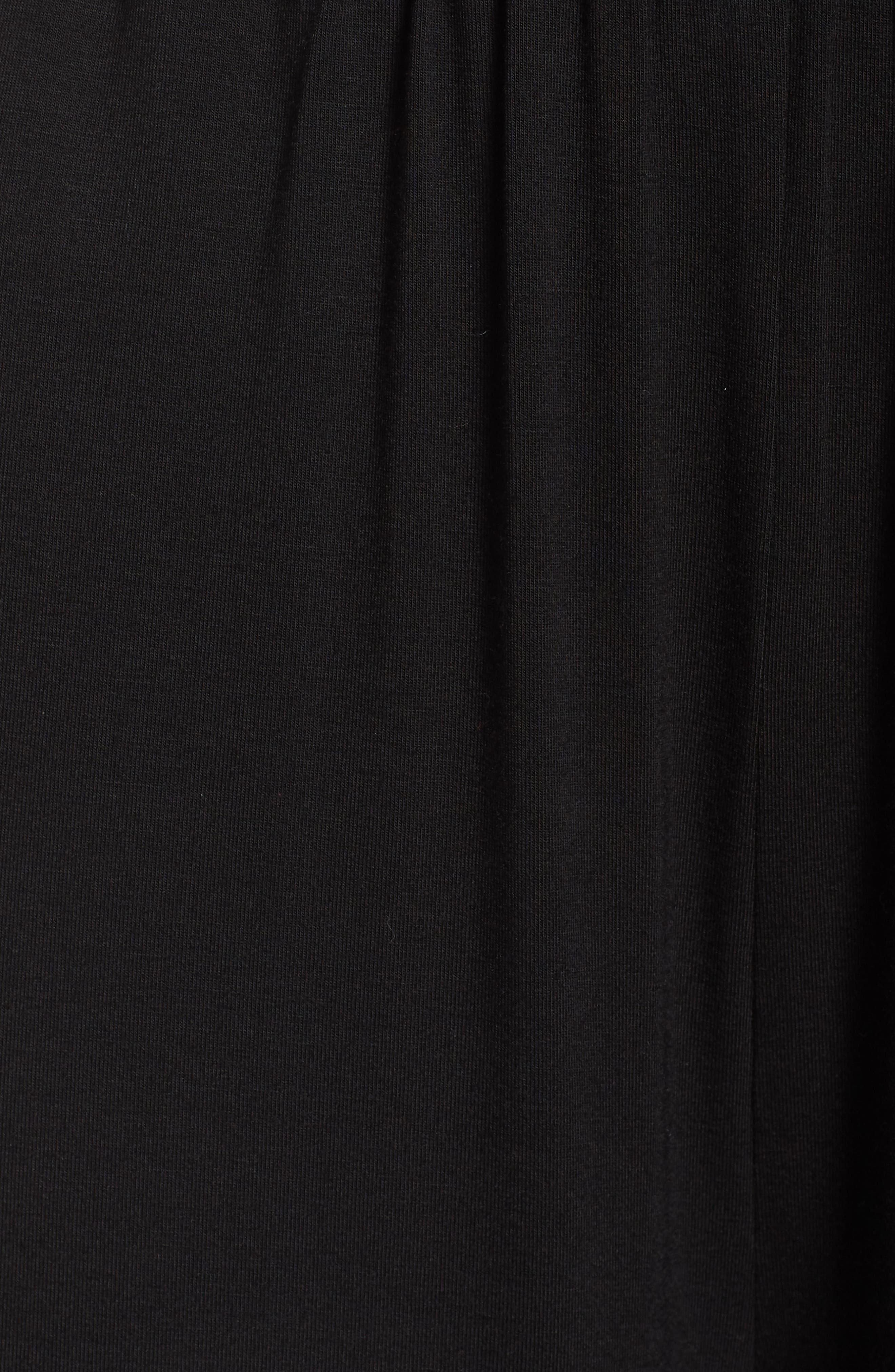 BB DAKOTA,                             Knit Wrap Jumpsuit,                             Alternate thumbnail 6, color,                             BLACK