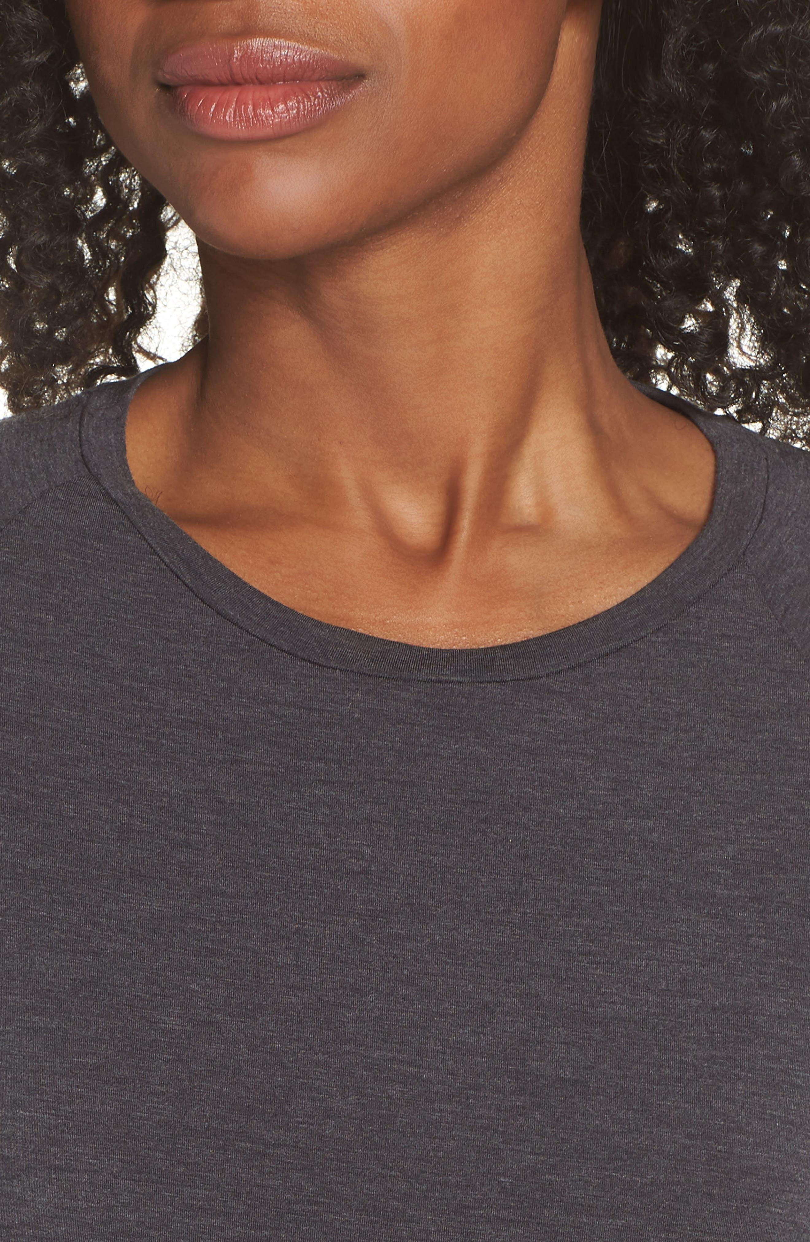 NEW BALANCE,                             Release Open Back Long Sleeve Sweatshirt,                             Alternate thumbnail 4, color,                             008