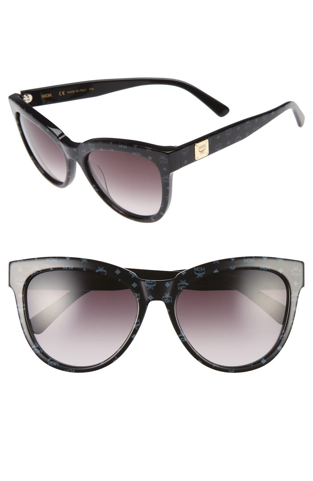56mm Retro Sunglasses,                         Main,                         color, 006