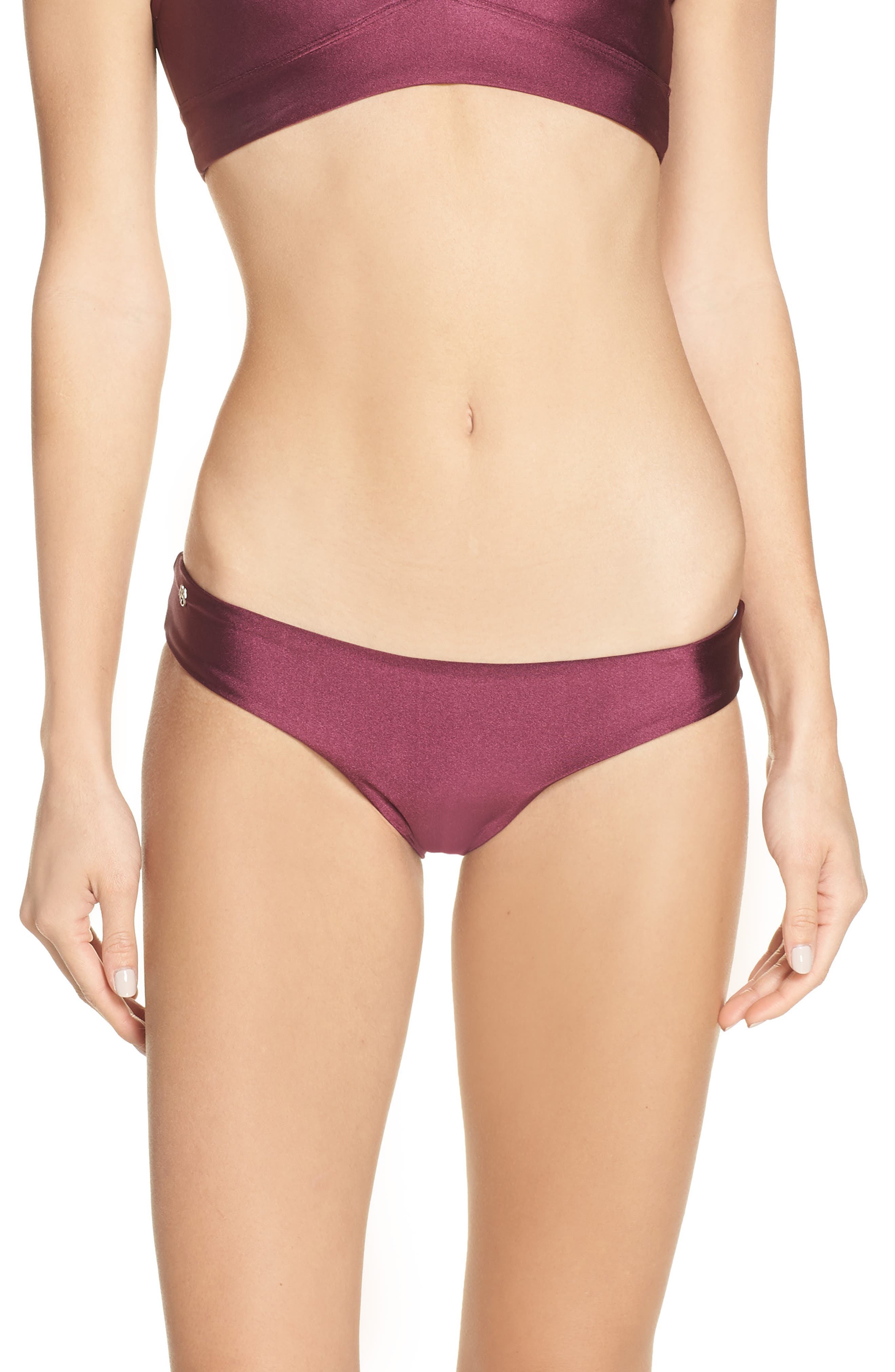 Maaji Beach Plum Sublime Reversible Bikini Bottoms, Burgundy