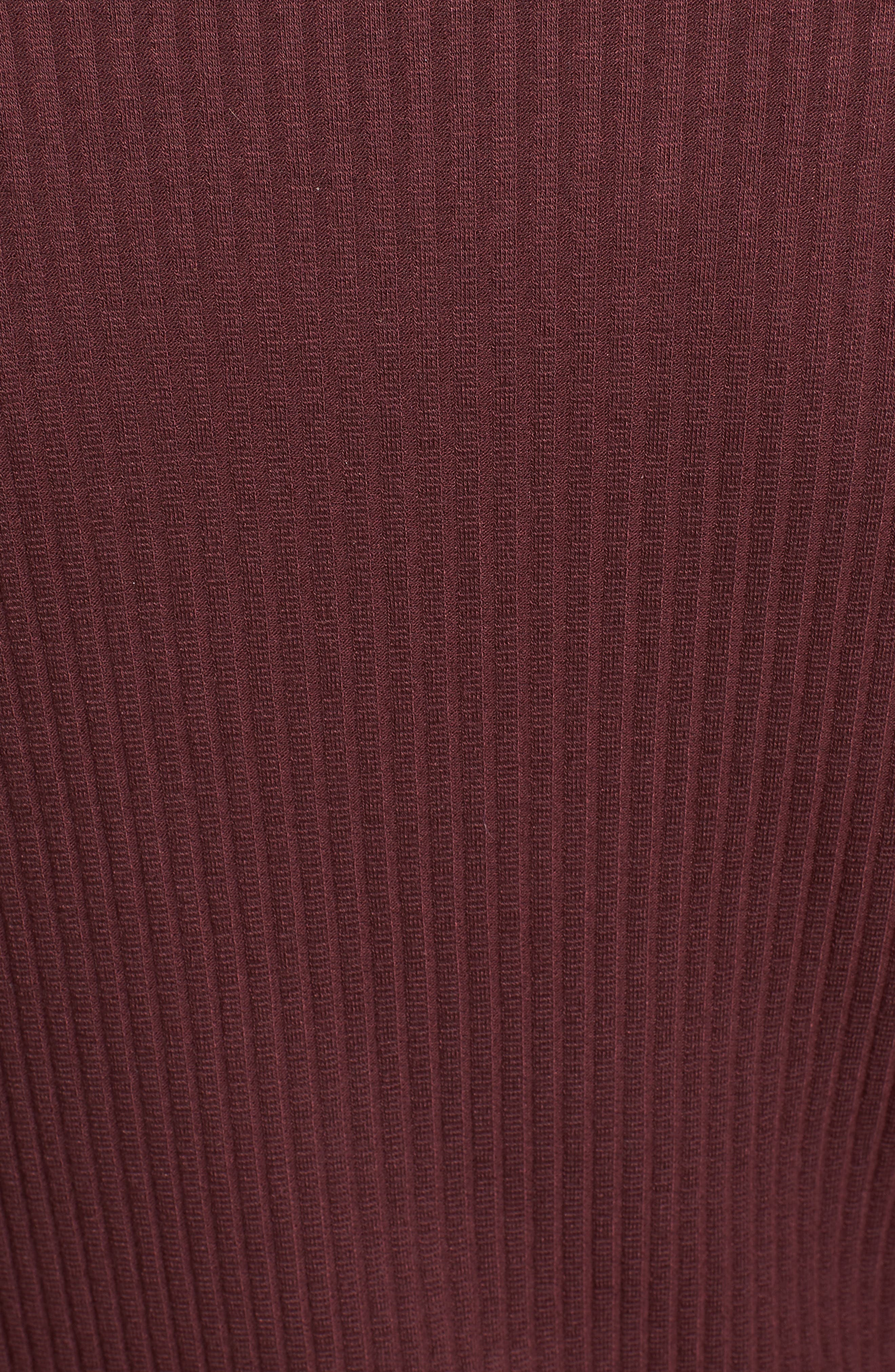Step Hem Turtleneck Dress,                             Alternate thumbnail 5, color,                             931