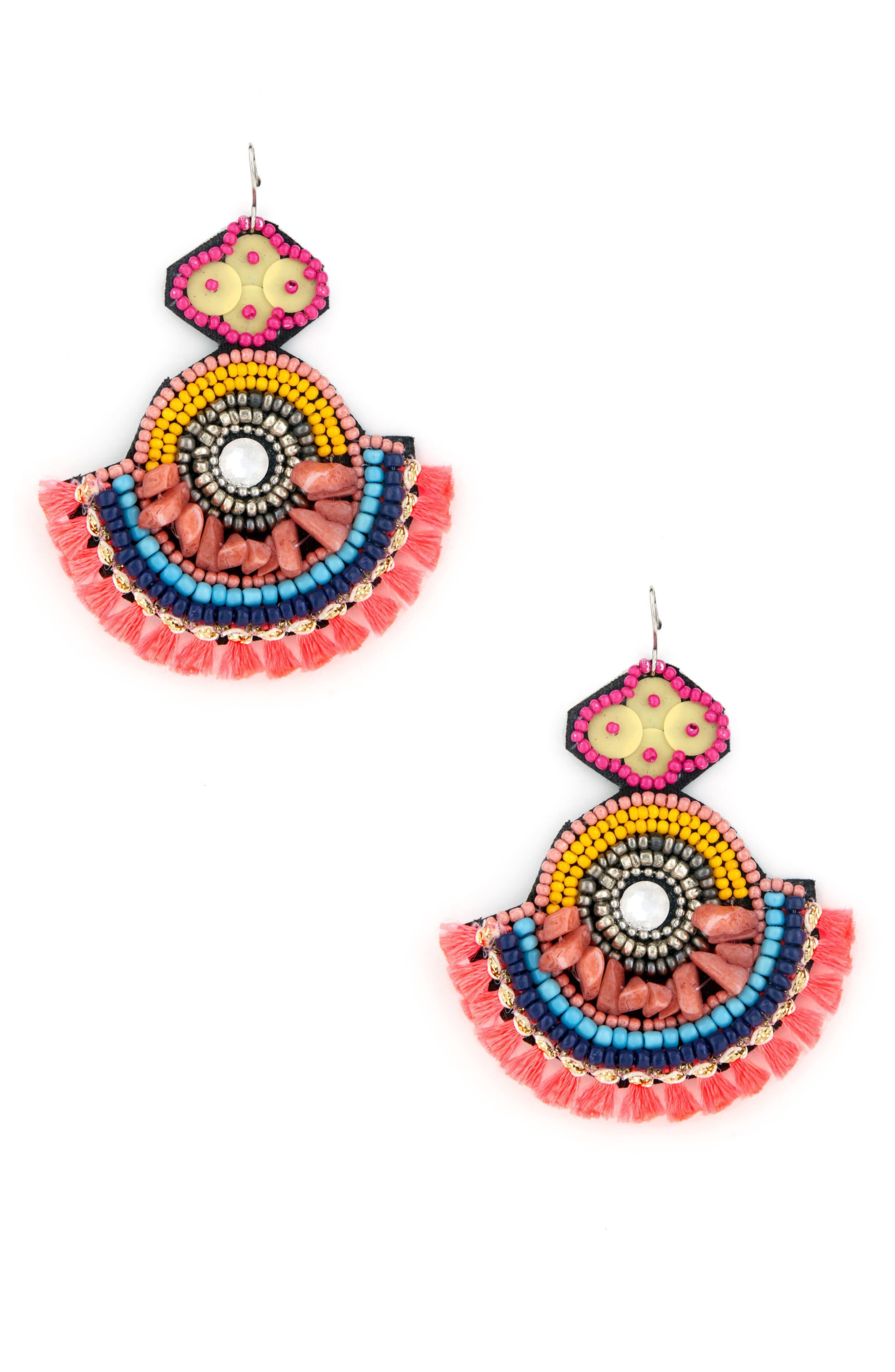 Carnivale Statement Earrings,                             Main thumbnail 1, color,