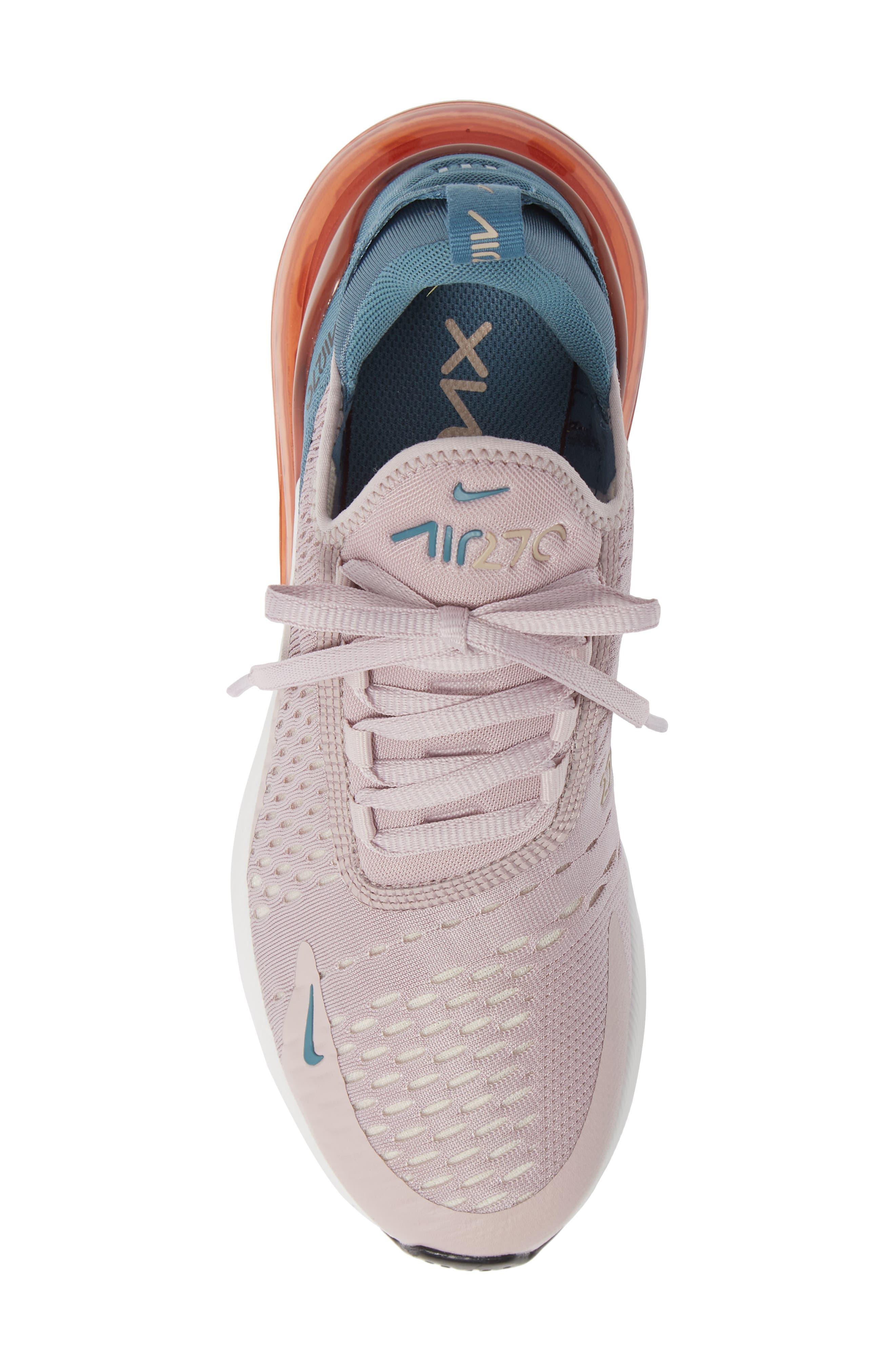 Air Max 270 Premium Sneaker,                             Alternate thumbnail 5, color,                             PARTICLE ROSE/ CELESTIAL TEAL