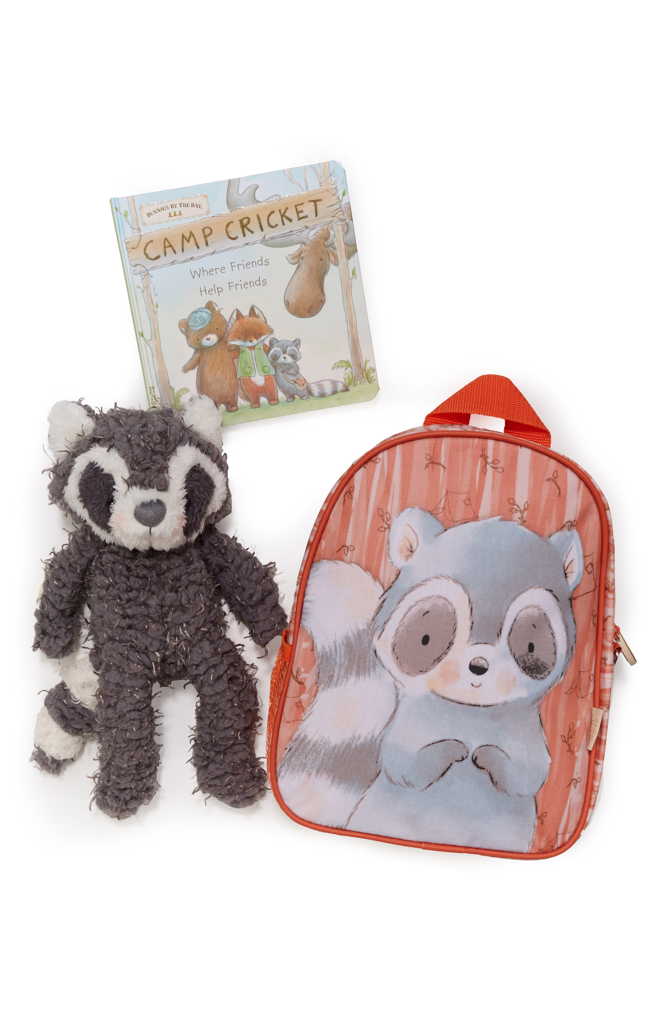Roxy On the Go Backpack, Stuffed Animal & Board Book Set,                             Alternate thumbnail 2, color,                             GREY