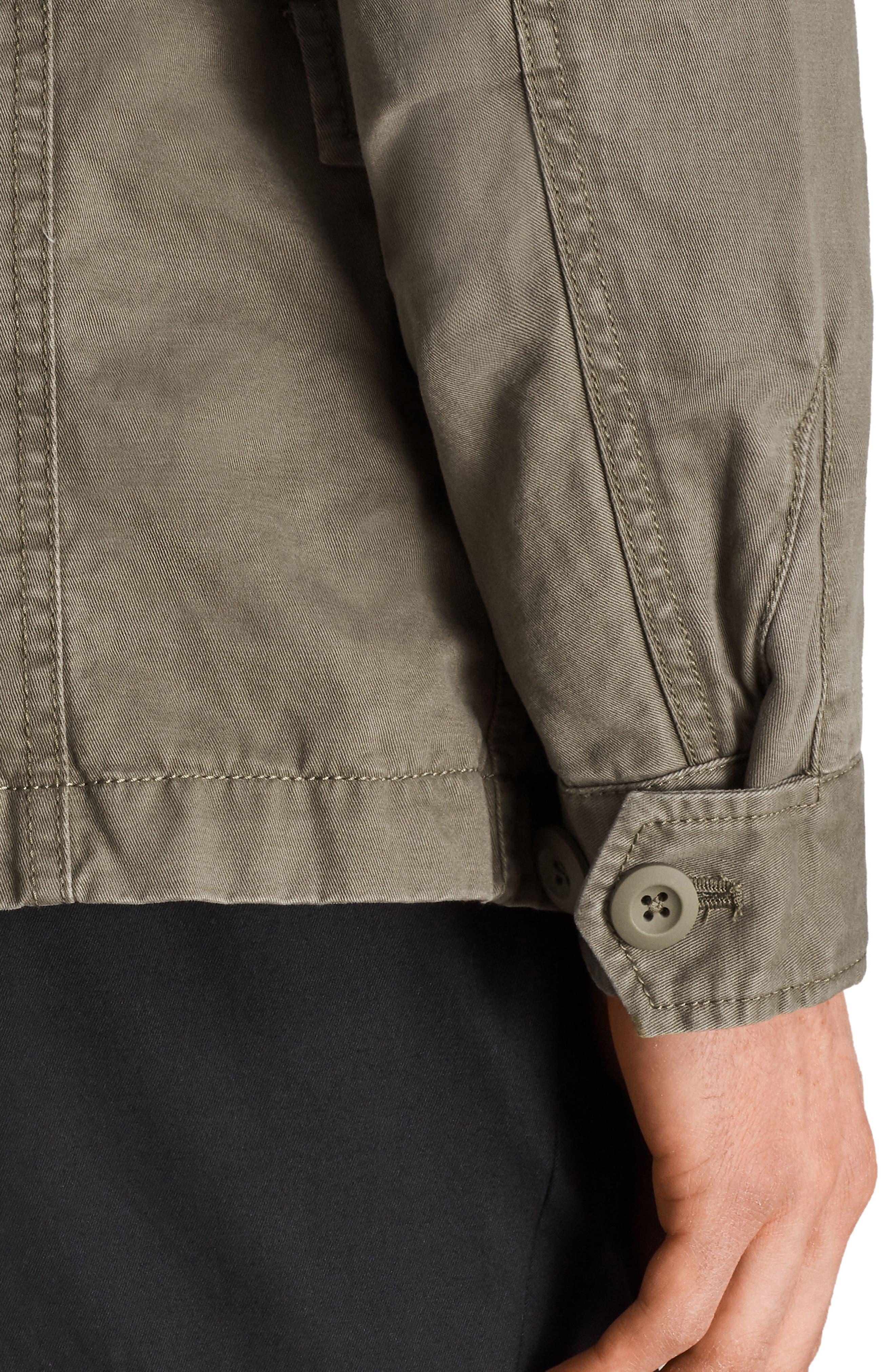 Cote Regular Fit Cotton Jacket,                             Alternate thumbnail 6, color,                             342