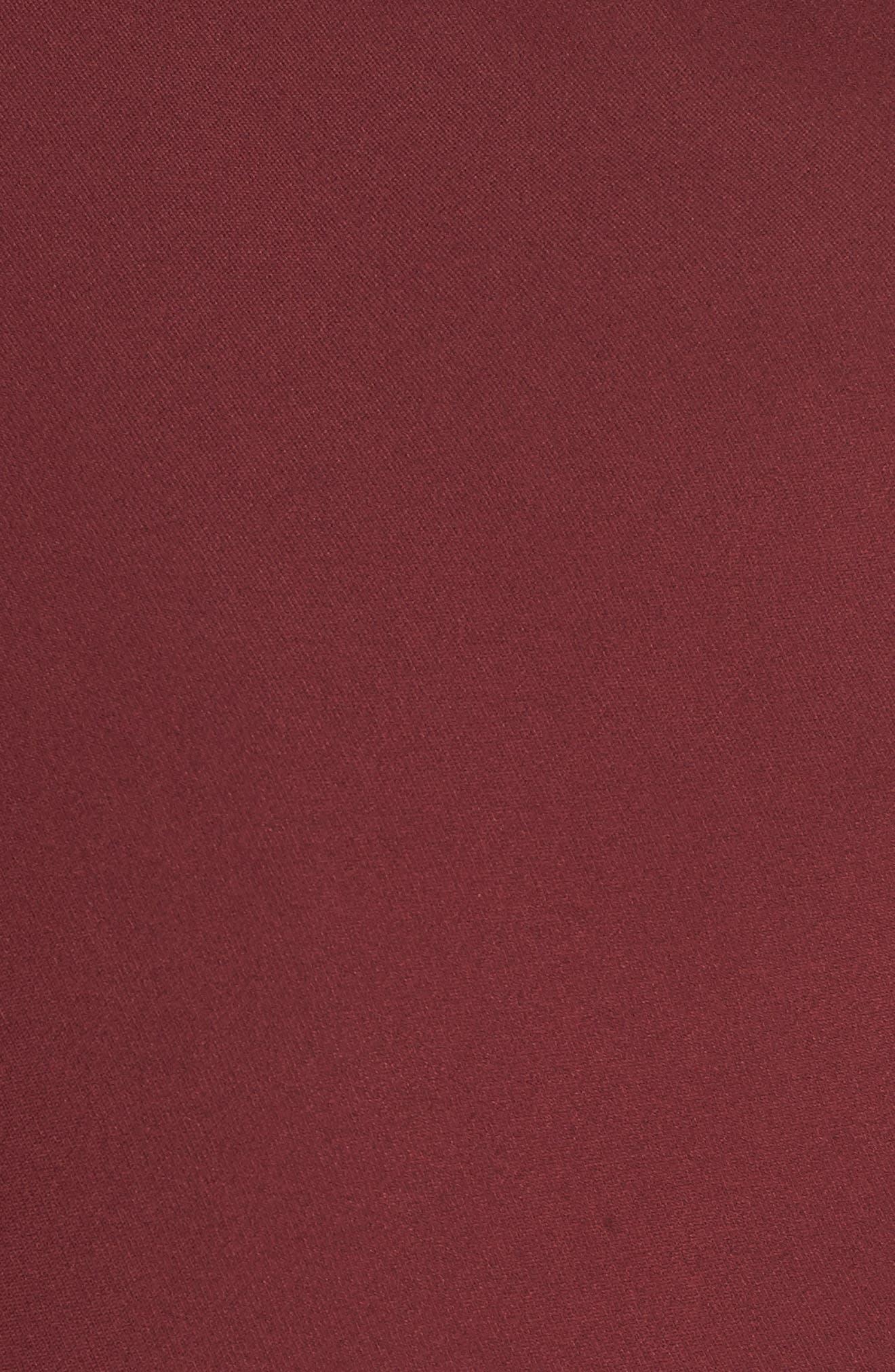 SEJOUR,                             Drape Neck Jacket,                             Alternate thumbnail 7, color,                             BURGUNDY FIELD