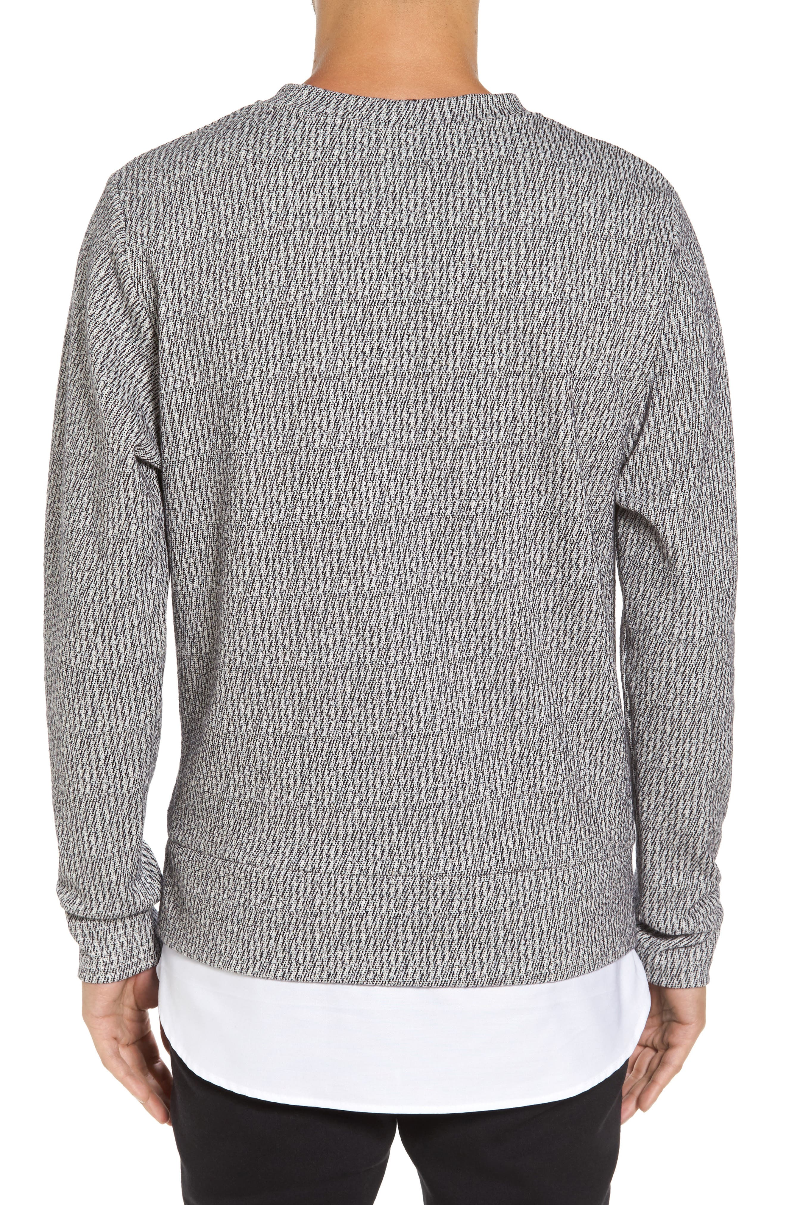 Double Layer Crewneck Sweater,                             Alternate thumbnail 2, color,                             020