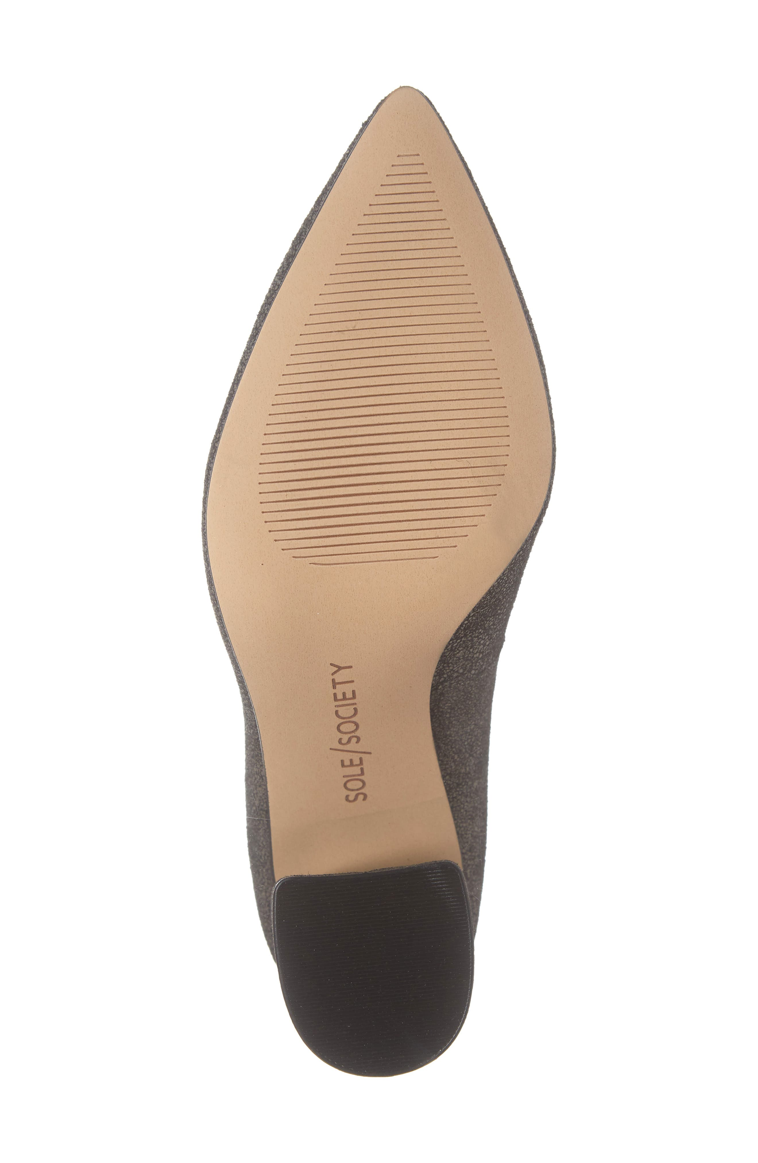 SOLE SOCIETY,                             Twila Pump,                             Alternate thumbnail 6, color,                             DARK CEMENT LEATHER