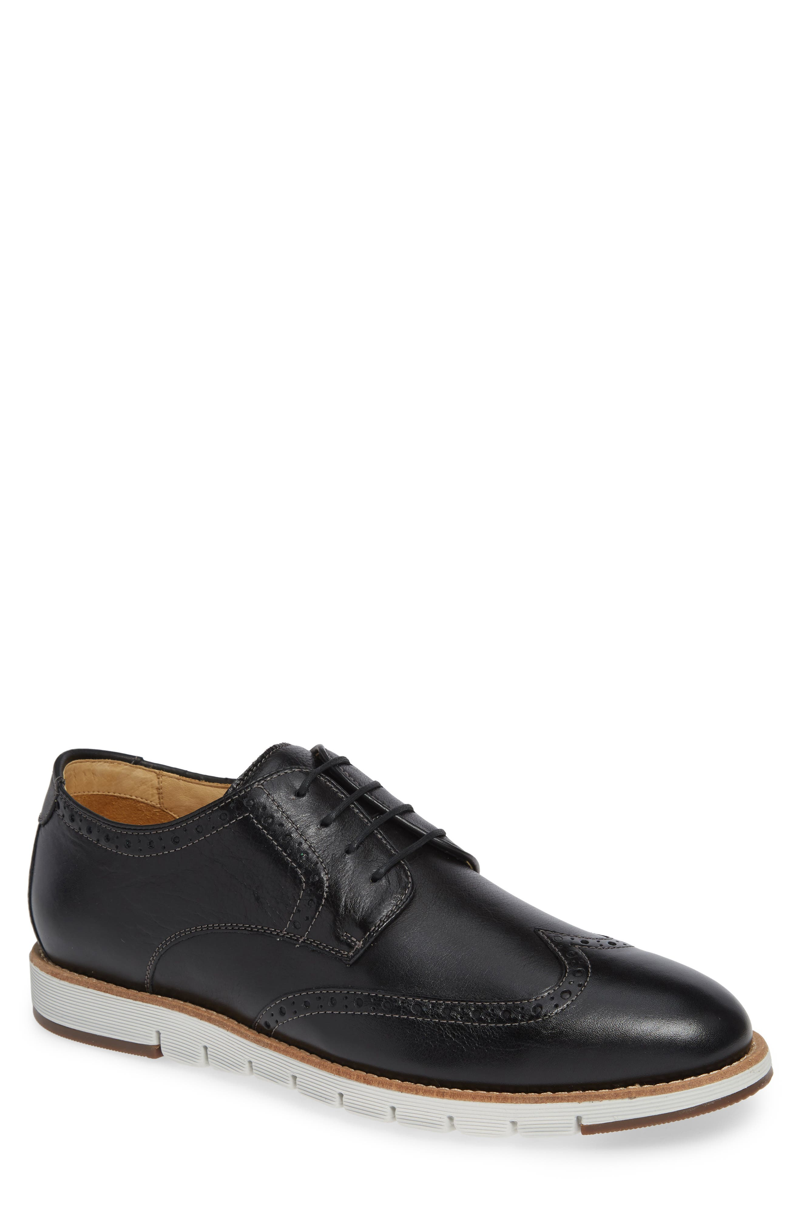 Martell Wingtip,                             Main thumbnail 1, color,                             BLACK LEATHER