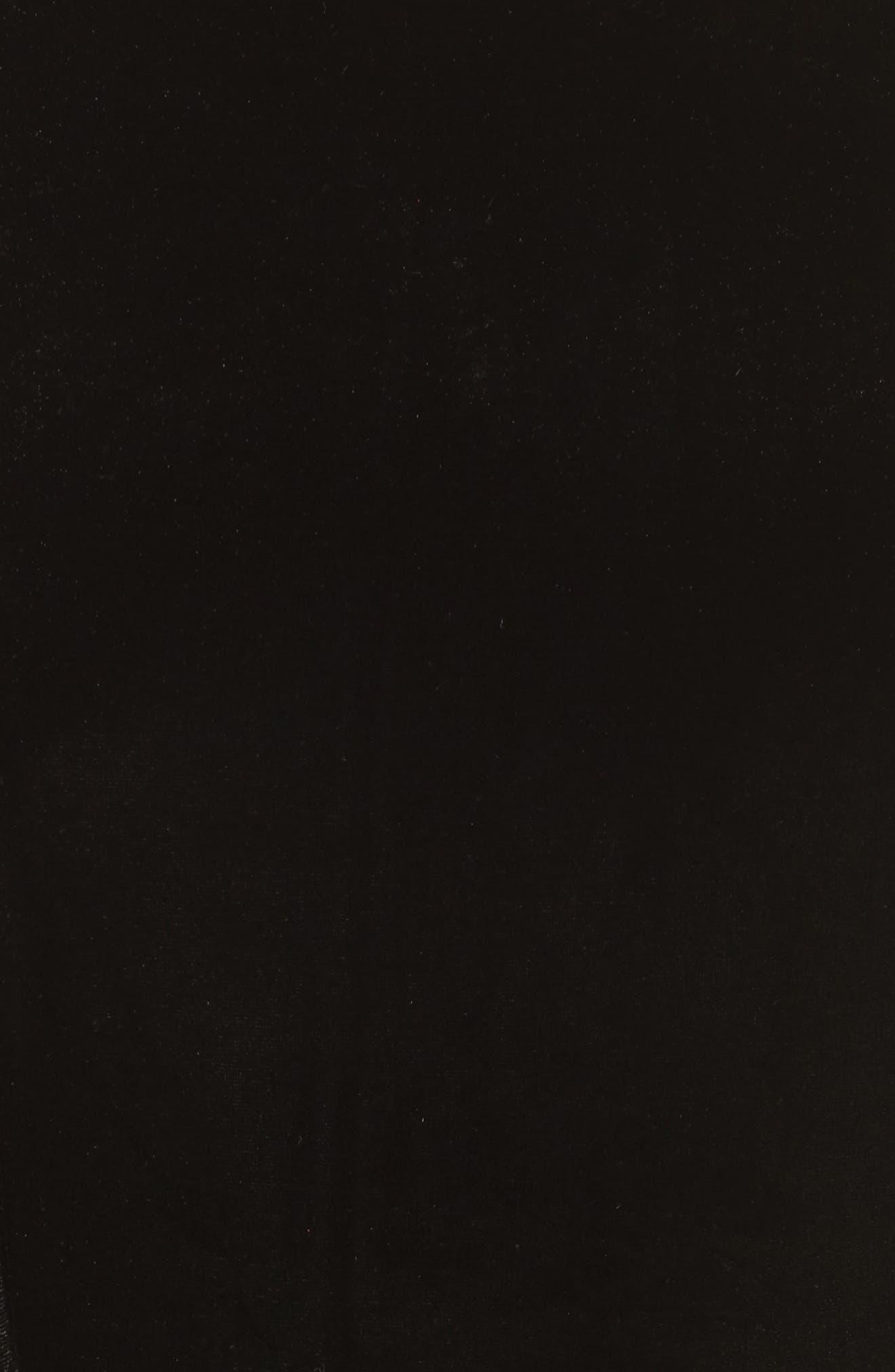 Aurore Velvet Culotte Jumpsuit,                             Alternate thumbnail 5, color,                             001