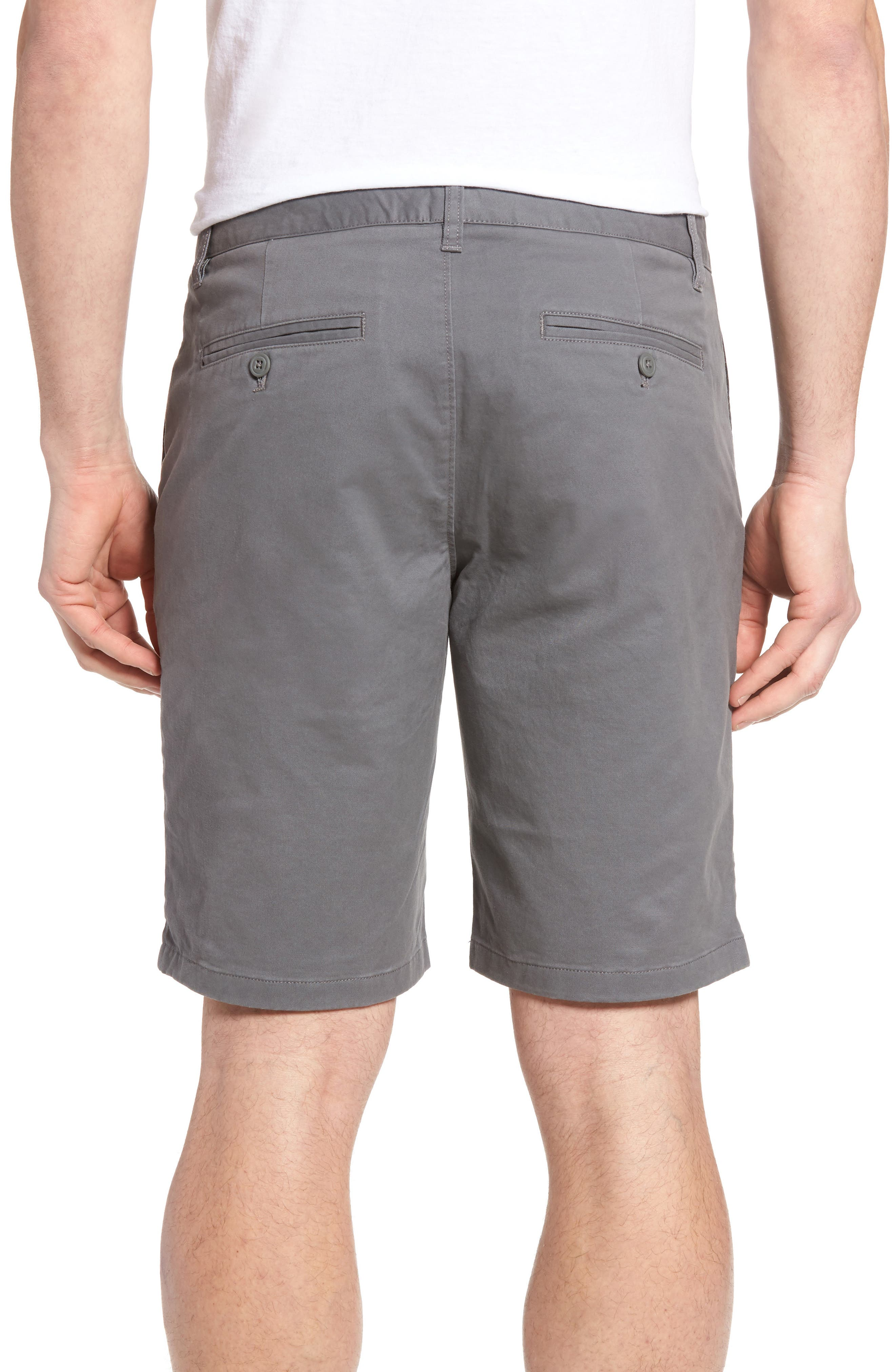 Stretch Washed Chino 9-Inch Shorts,                             Alternate thumbnail 2, color,                             GRAPHITES
