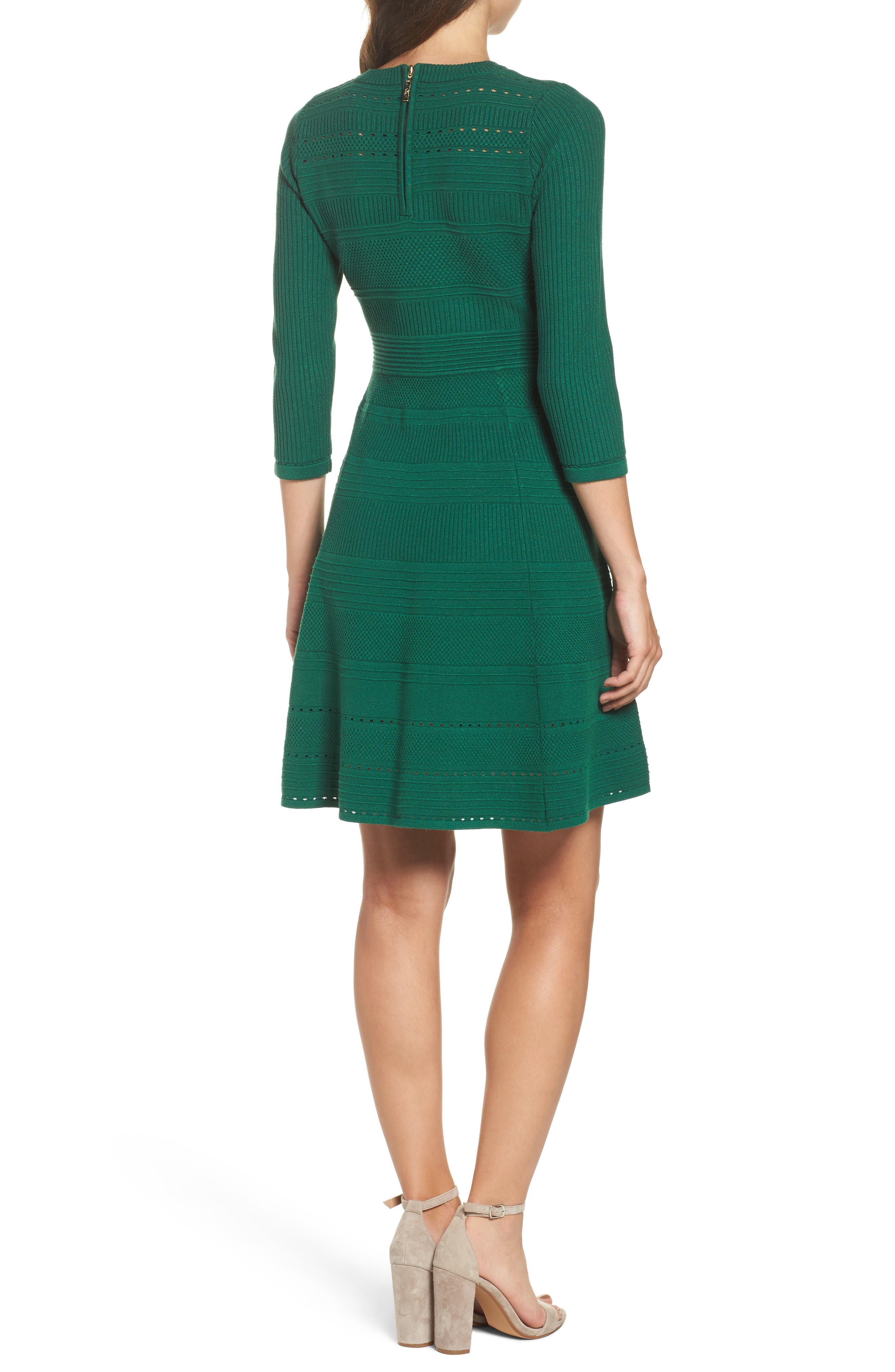 Fit & Flare Sweater Dress,                             Alternate thumbnail 6, color,
