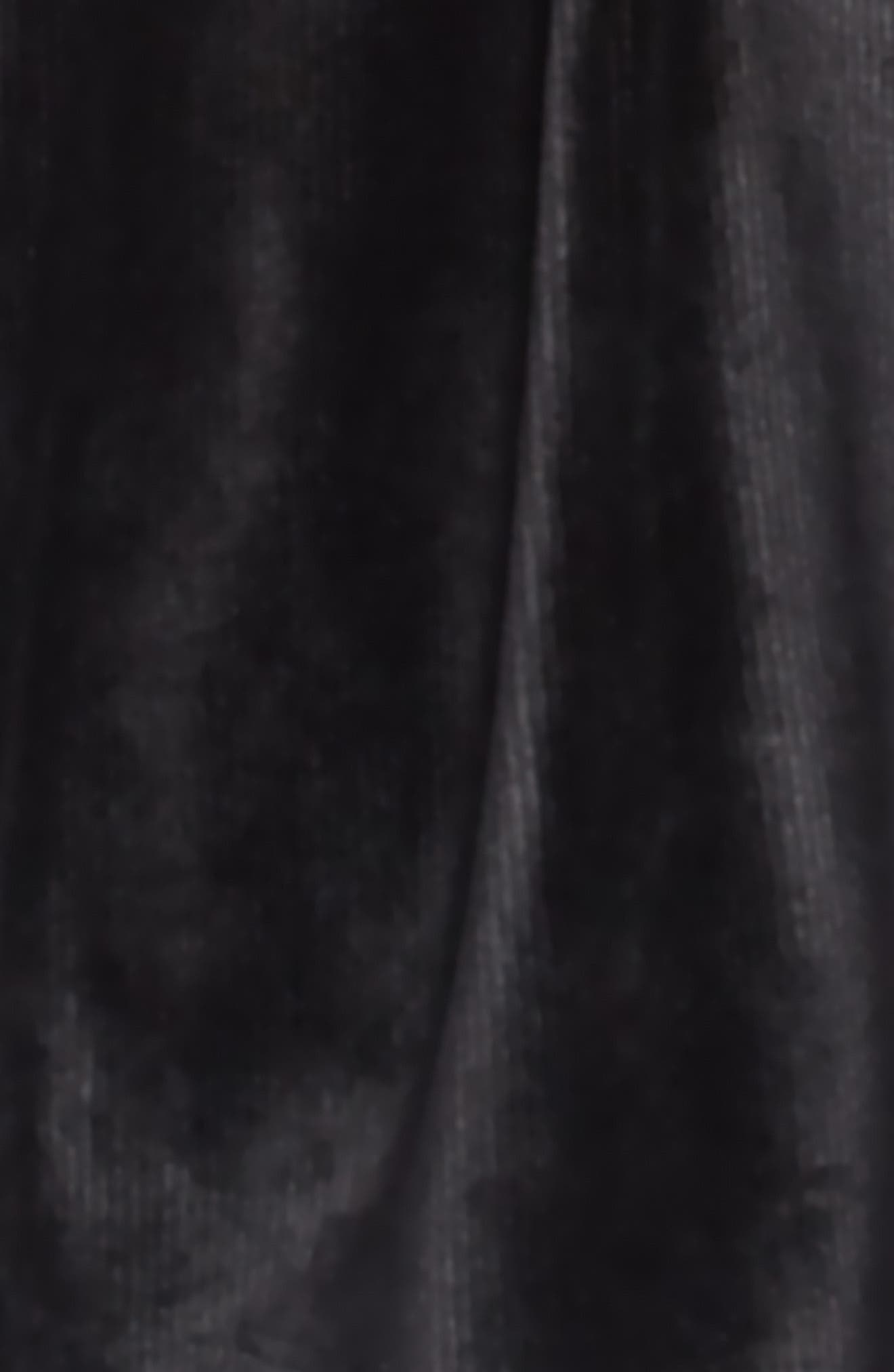 Velour Cord Dress,                             Alternate thumbnail 3, color,                             BLACK