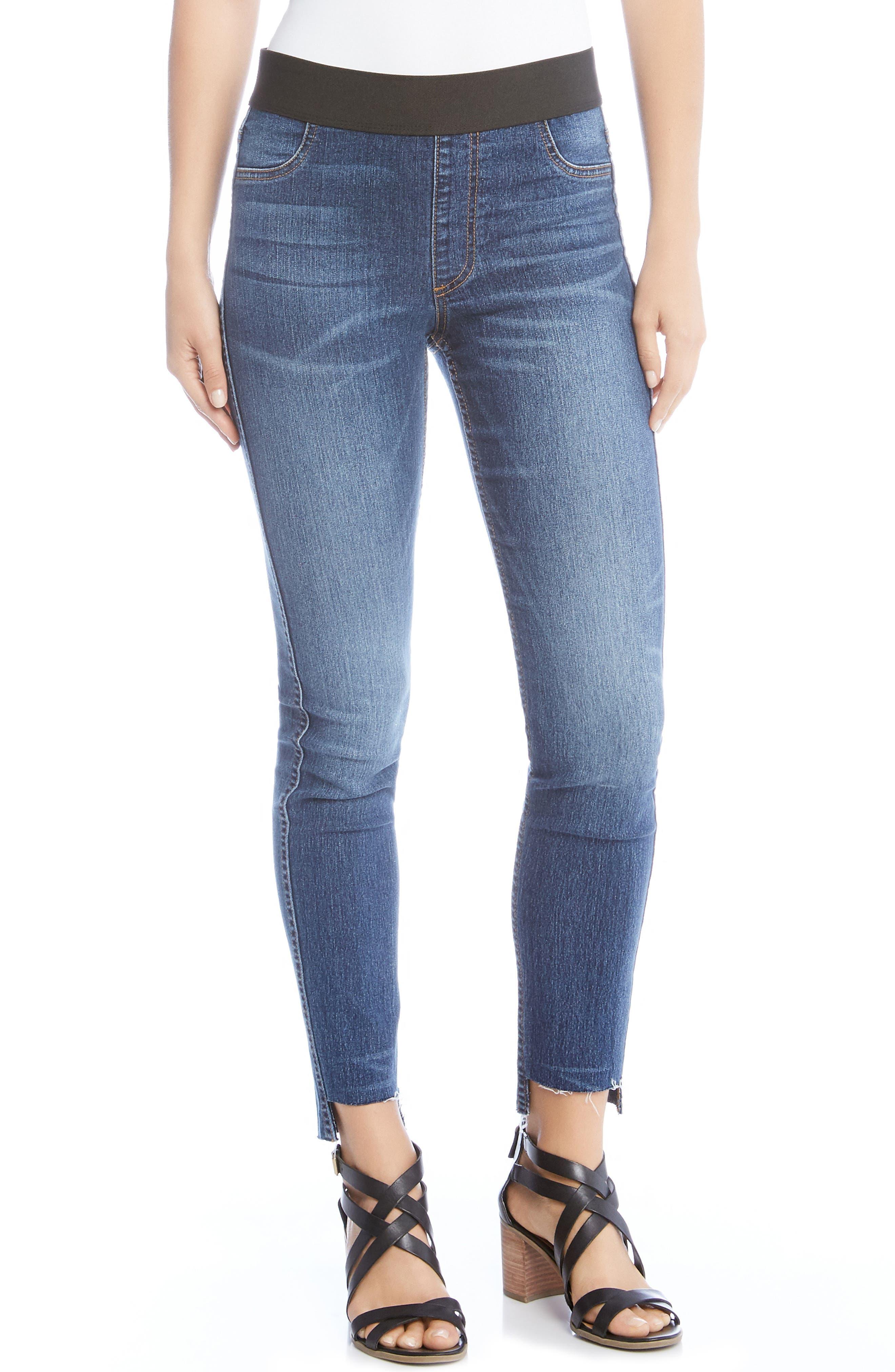Step Hem Denim Leggings,                         Main,                         color, 420